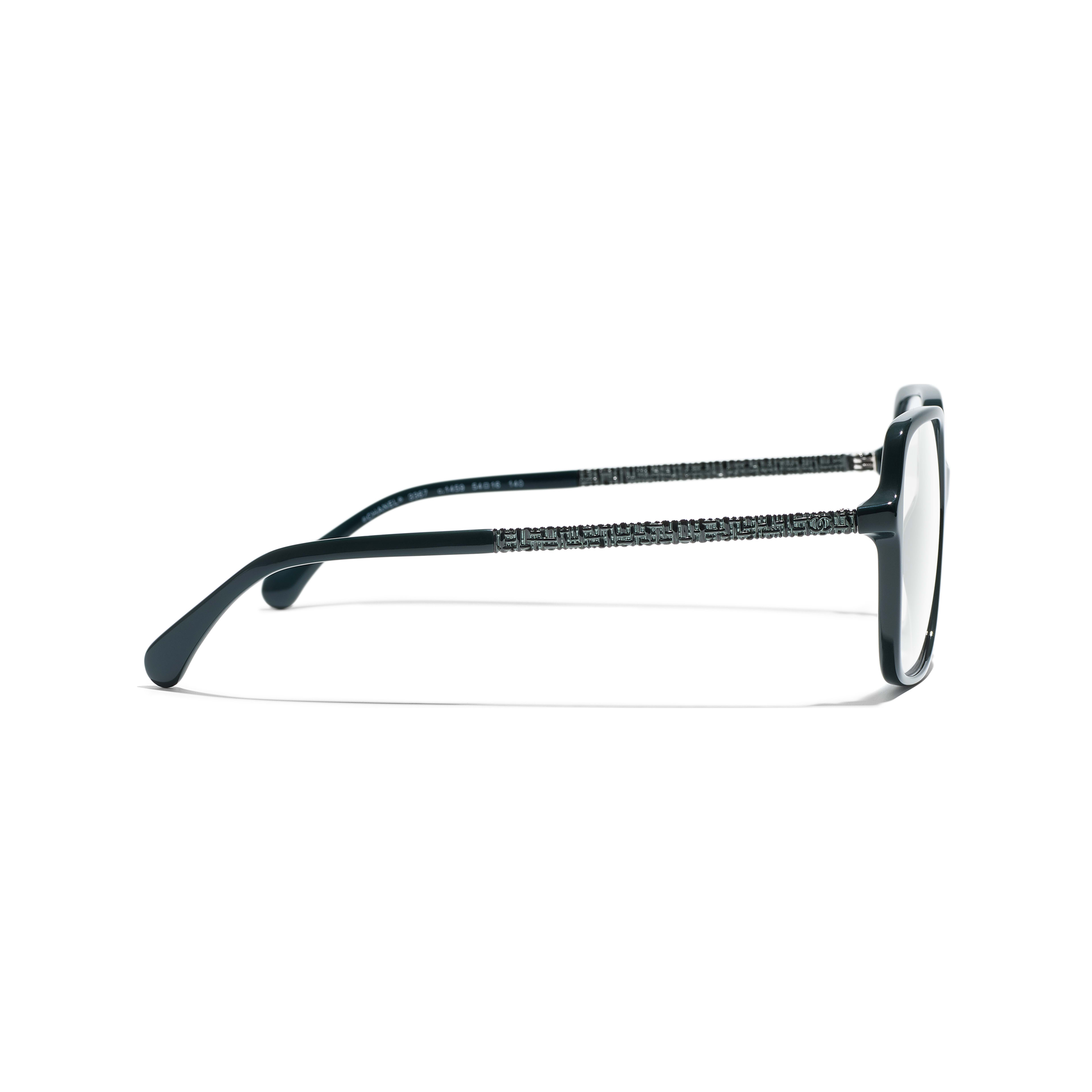 Square Eyeglasses - Dark Green - Acetate - Other view - see full sized version