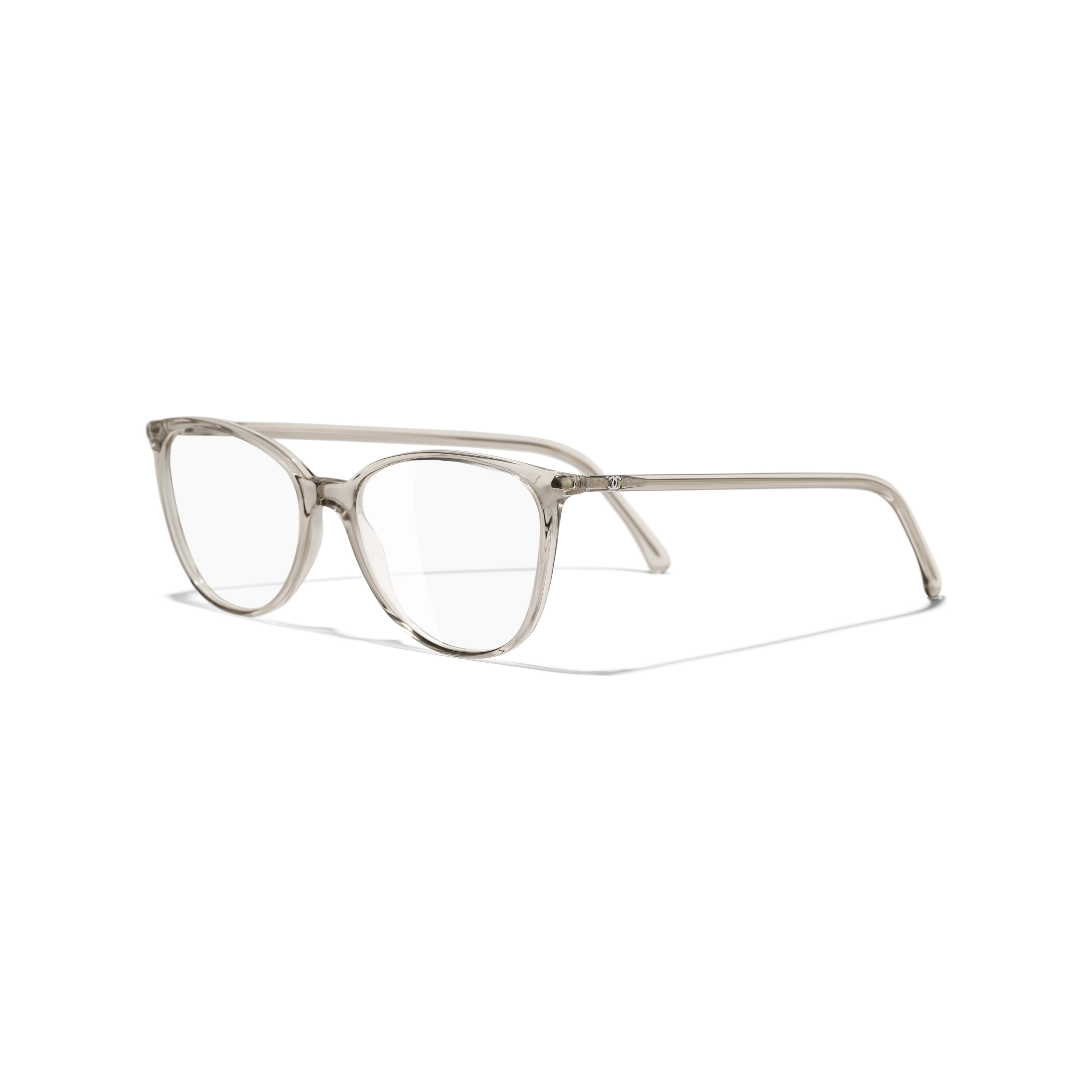 Square Eyeglasses - Transparent Beige - Acetate - Extra view - see full sized version