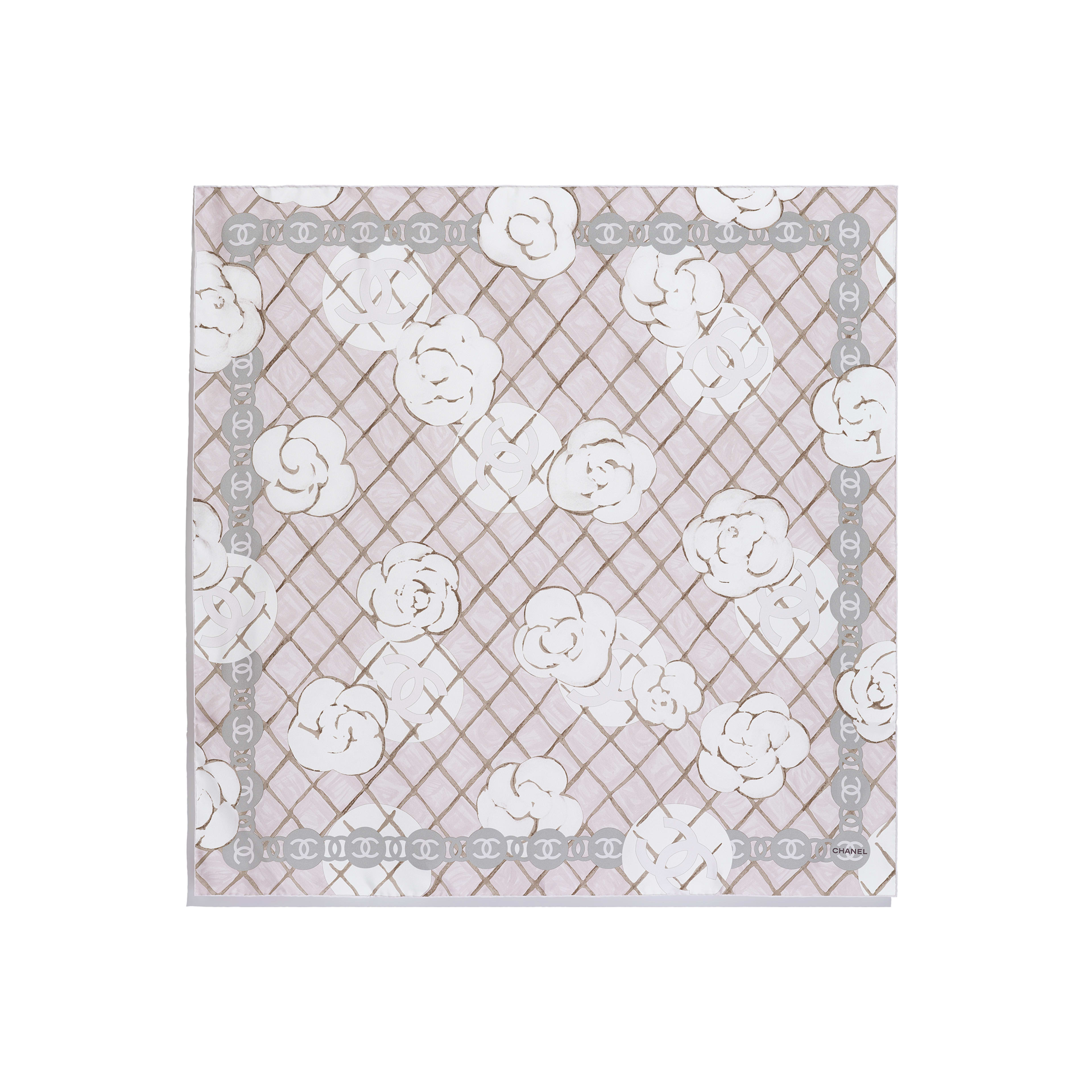 Square Scarf - Light Pink - Silk Twill - Other view - see full sized version