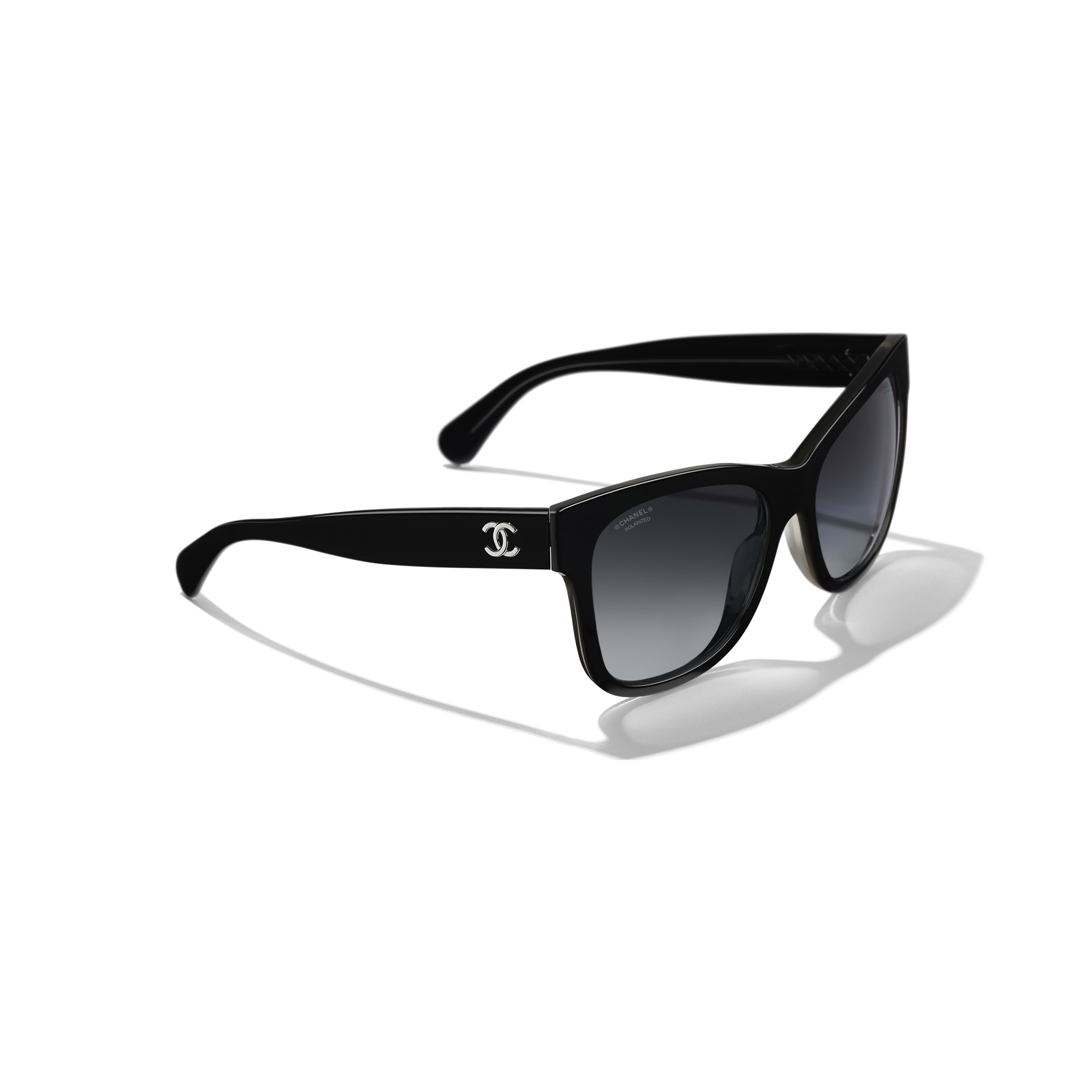 Square Sunglasses - Black - Acetate - Extra view - see full sized version