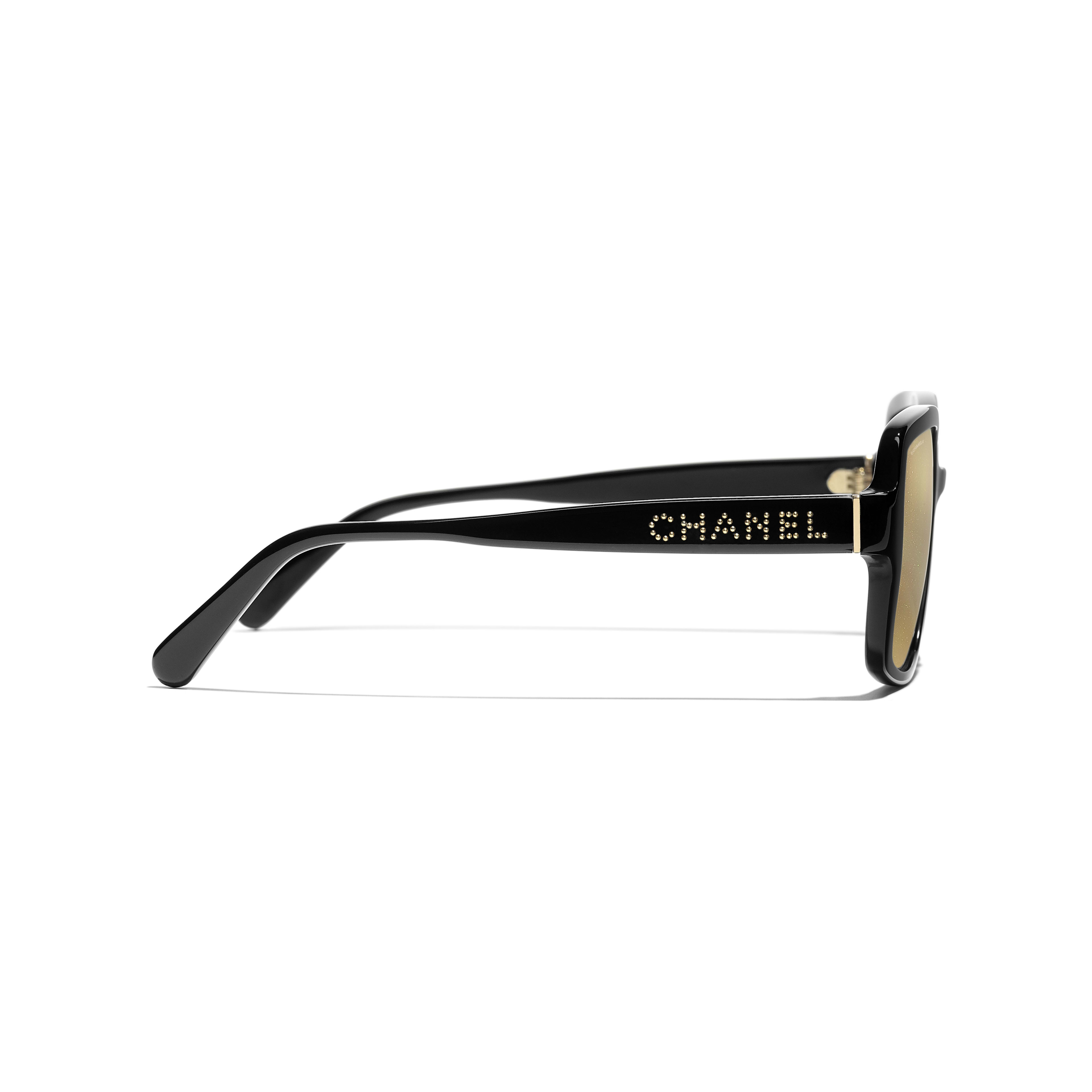 Square Sunglasses - Black - Acetate - Other view - see full sized version