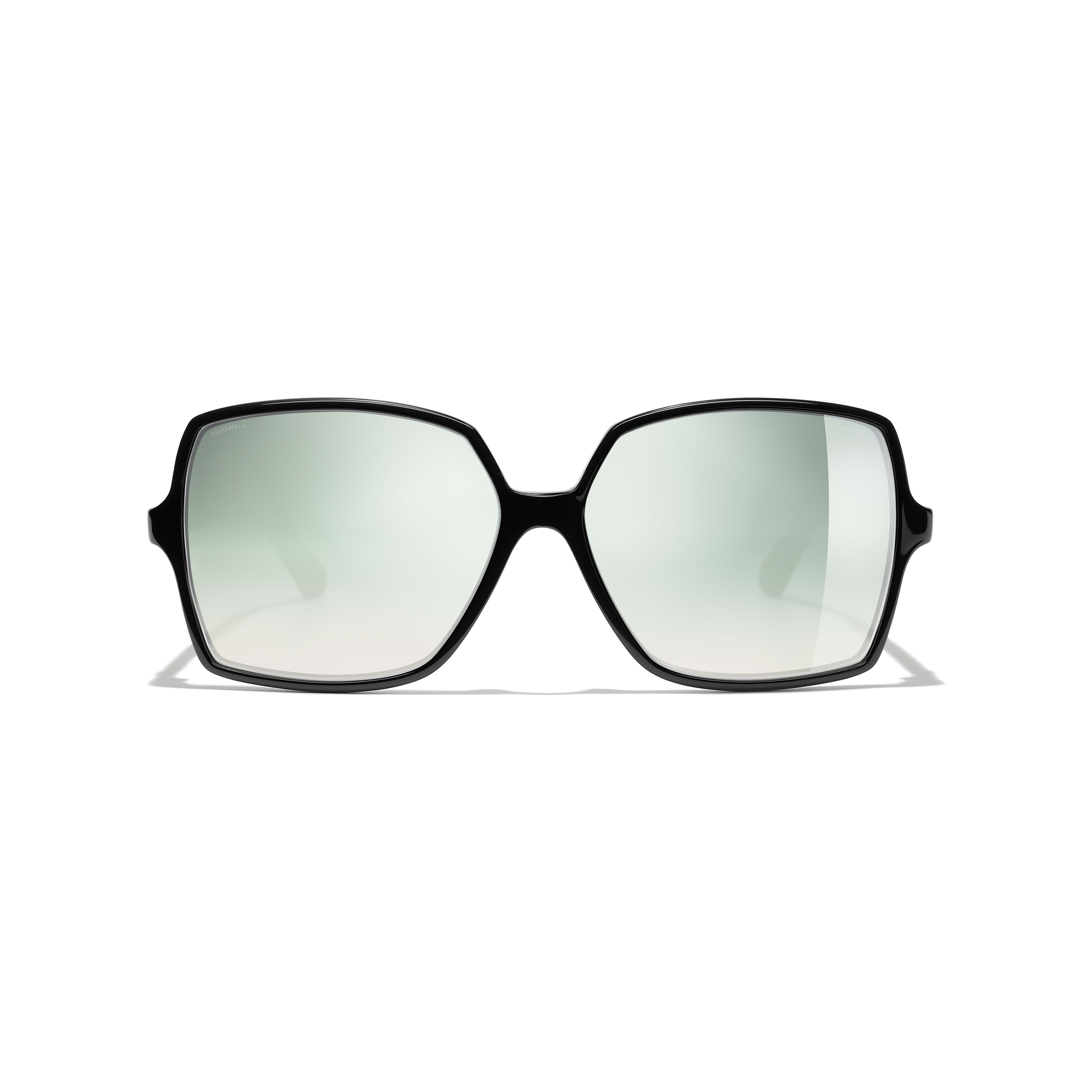 Square Sunglasses - Black - Acetate, Wood & Rubber - Alternative view - see full sized version