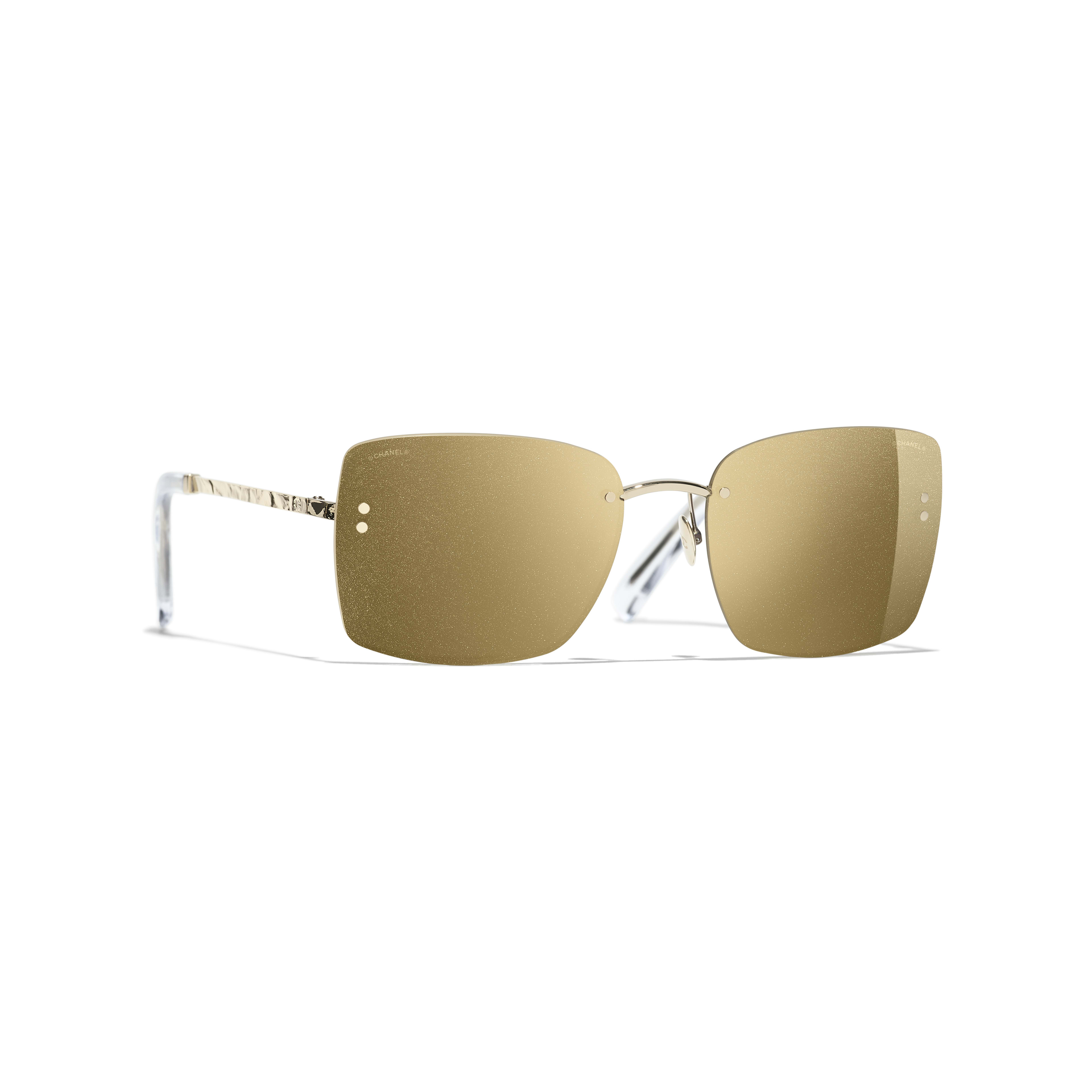 Square Sunglasses - Gold - Metal - Default view - see full sized version
