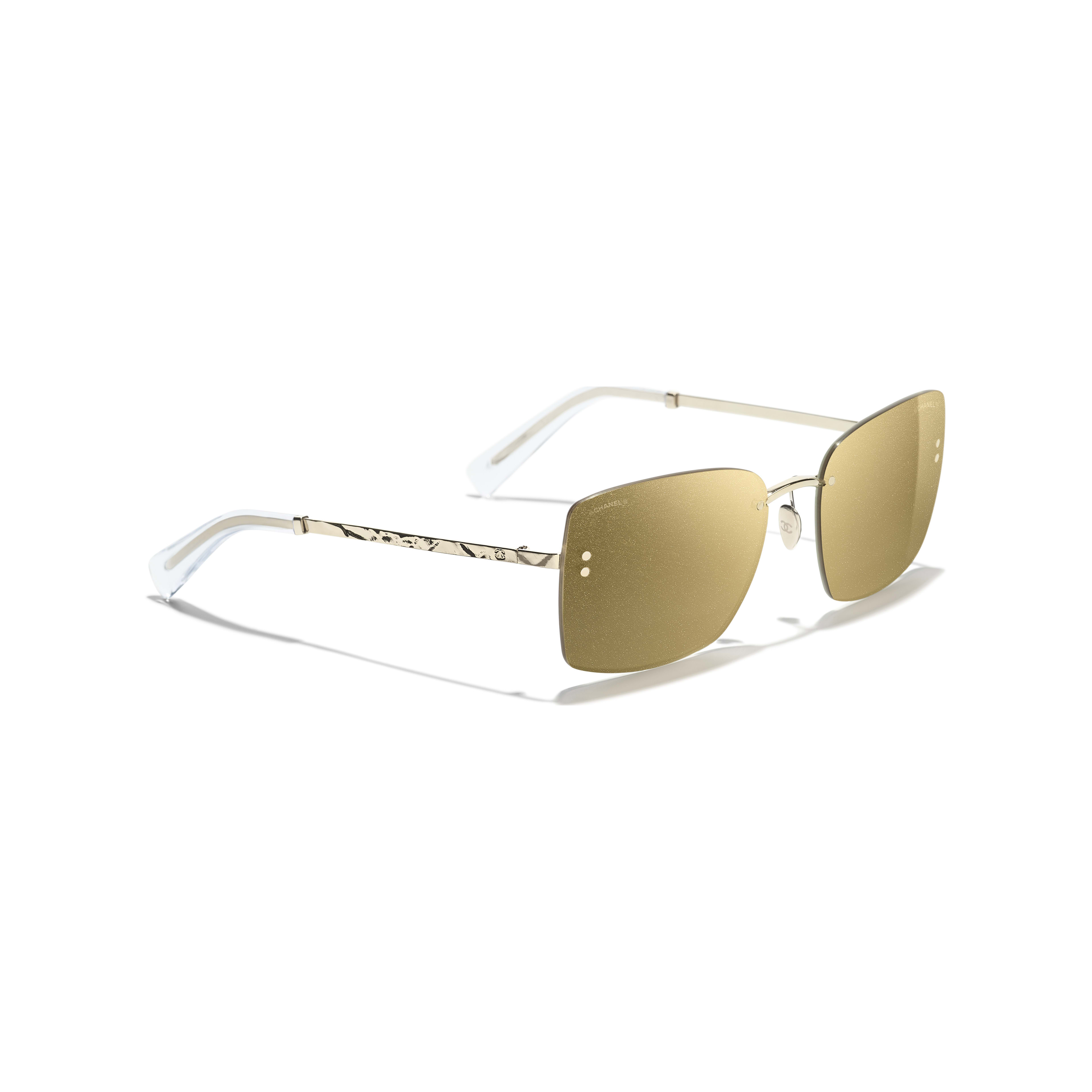 Square Sunglasses - Gold - Metal - Extra view - see full sized version
