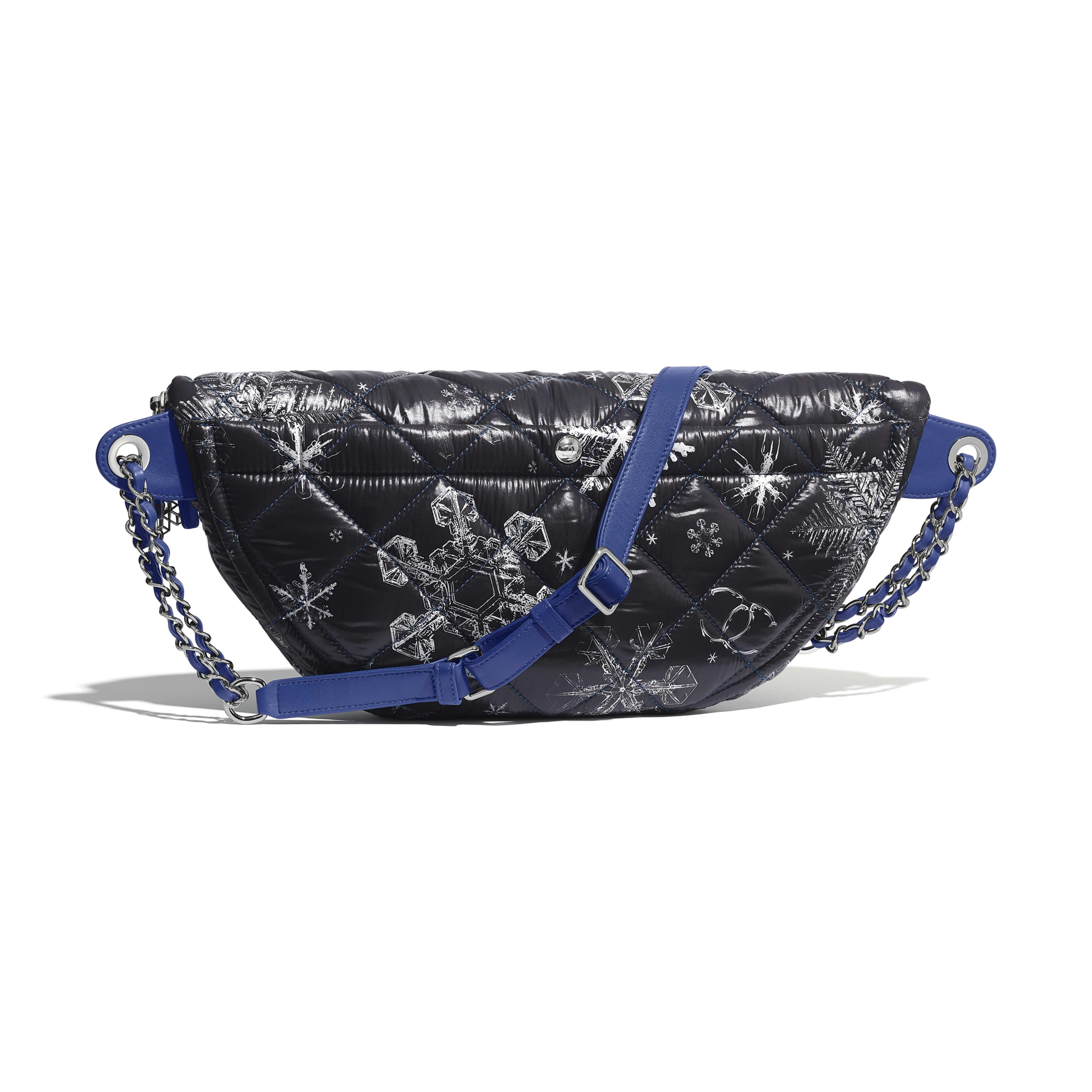 Сумка - Черный - Вуаль с принтом и металл рутениевого оттенка - Альтернативный вид - посмотреть полноразмерное изображение