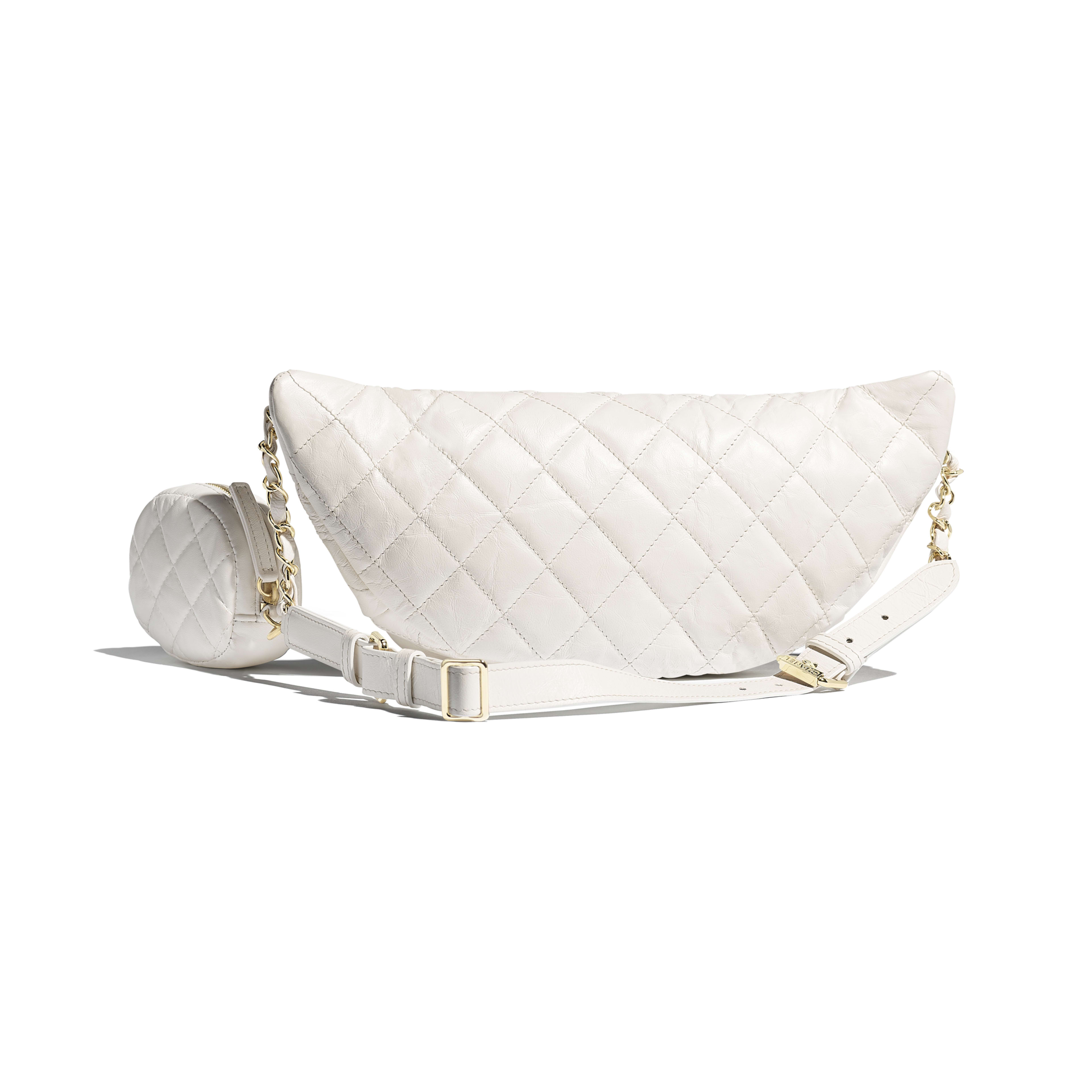 Waist Bag & Coin Purse - White - Aged Calfskin & Gold-Tone Metal - Alternative view - see full sized version