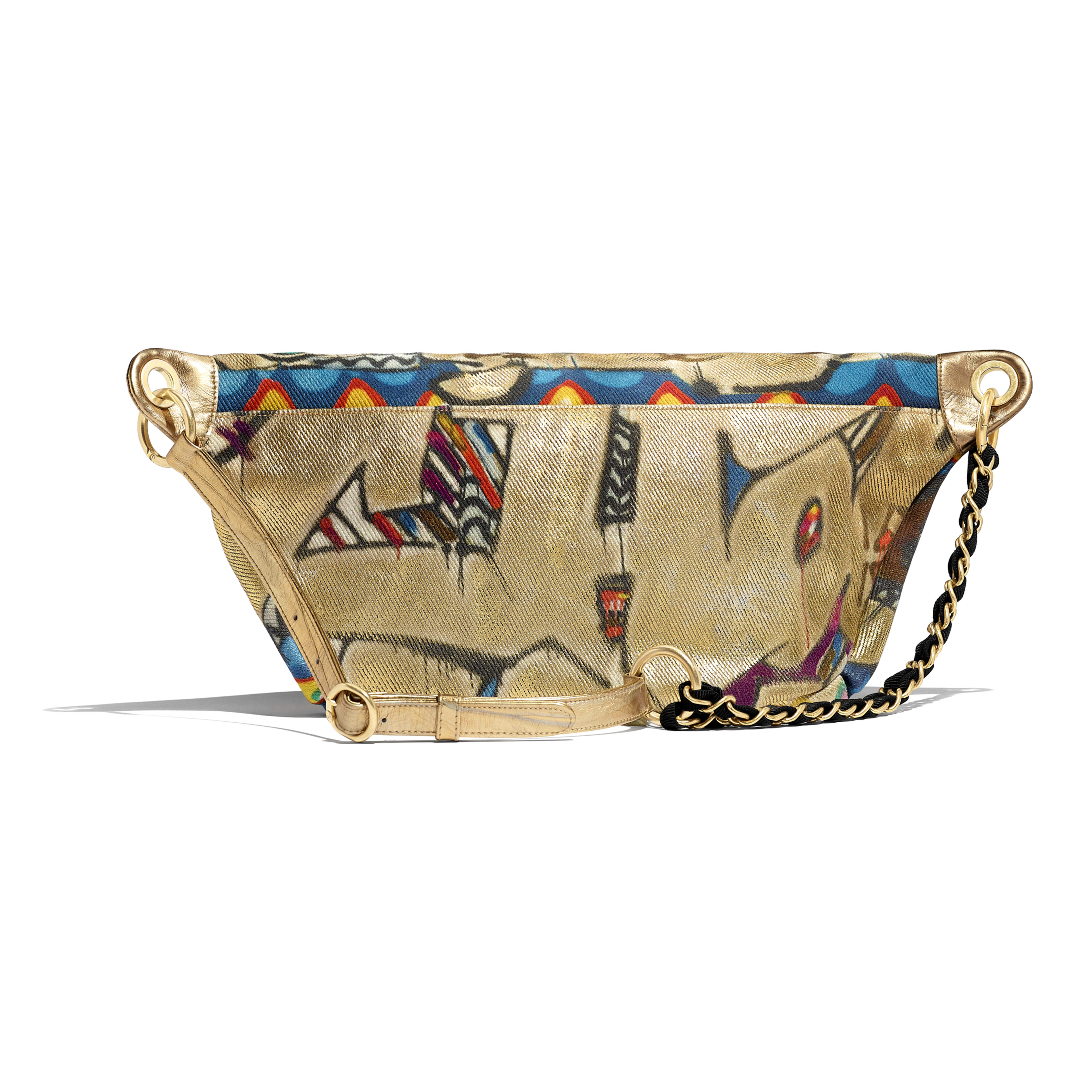 Waist Bag - Multicolor - Calfskin, Cotton & Gold-Tone Metal - Alternative view - see full sized version