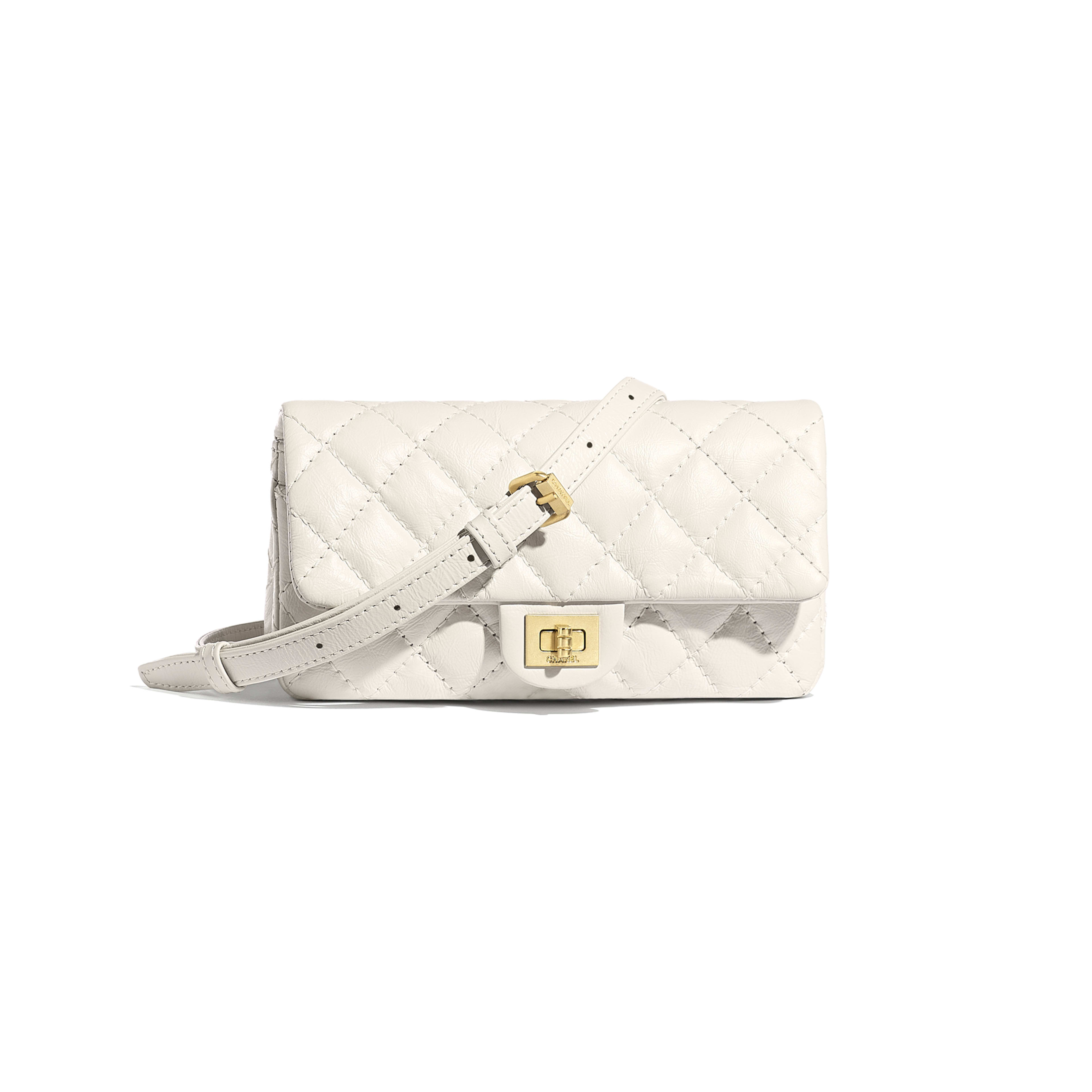 9742009536d5 Waist Bag - White - Aged Calfskin   Gold-Tone Metal - Default view ...