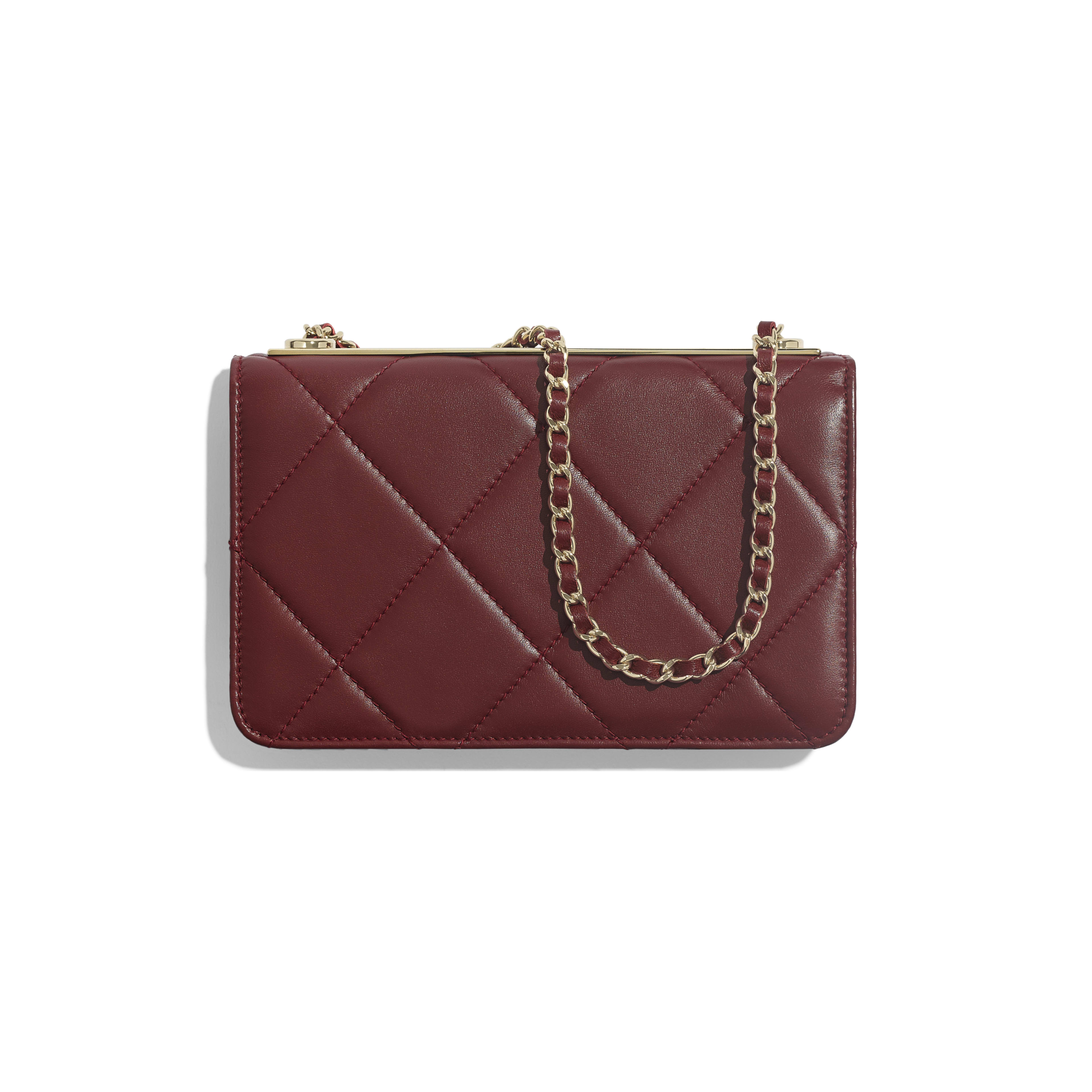 Wallet on Chain - Burgundy - Lambskin & Gold-Tone Metal - Alternative view - see full sized version