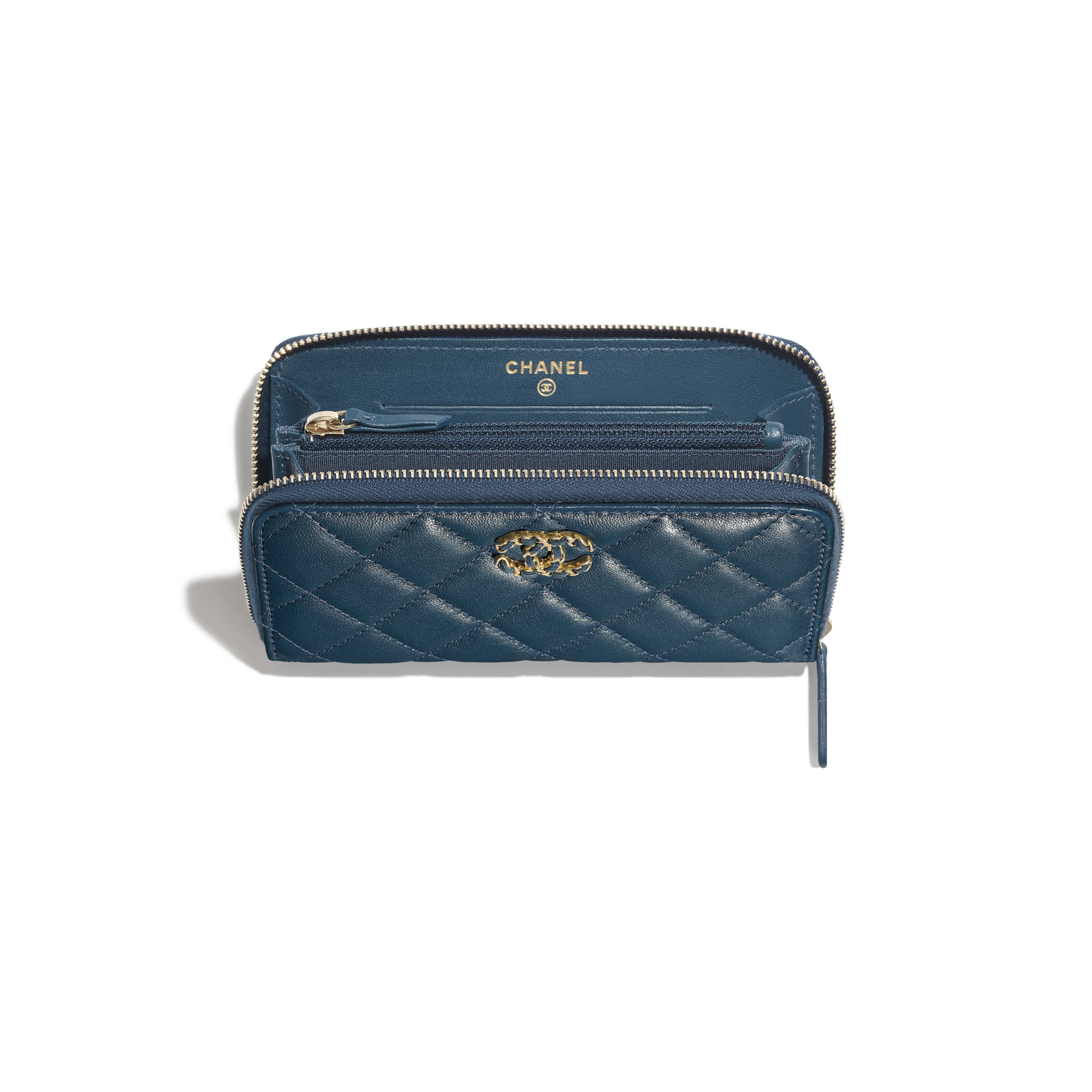 Zip Wallet - Blue - Lambskin - Other view - see full sized version