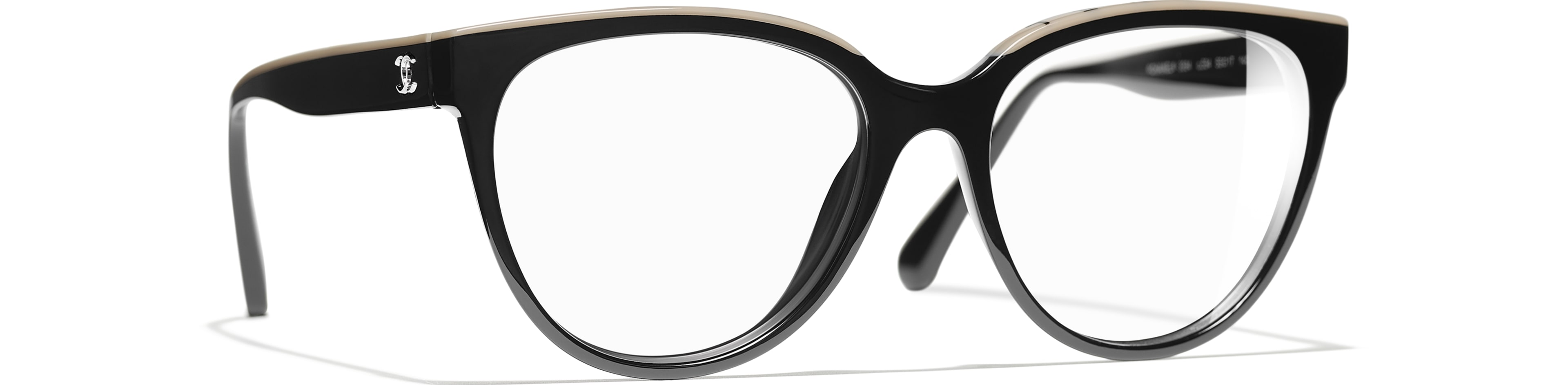 Acetate black & beige frame.