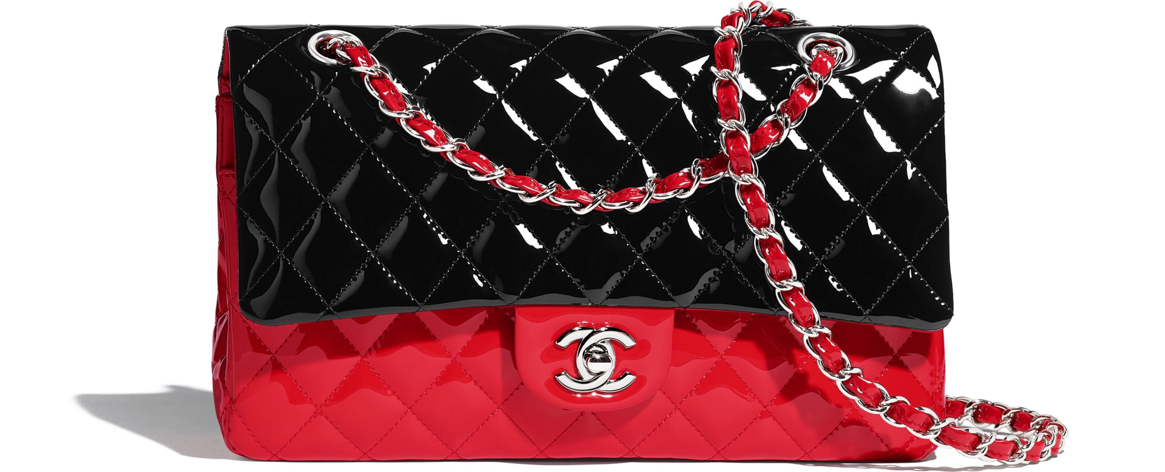 Patent Calfskin Black & Red