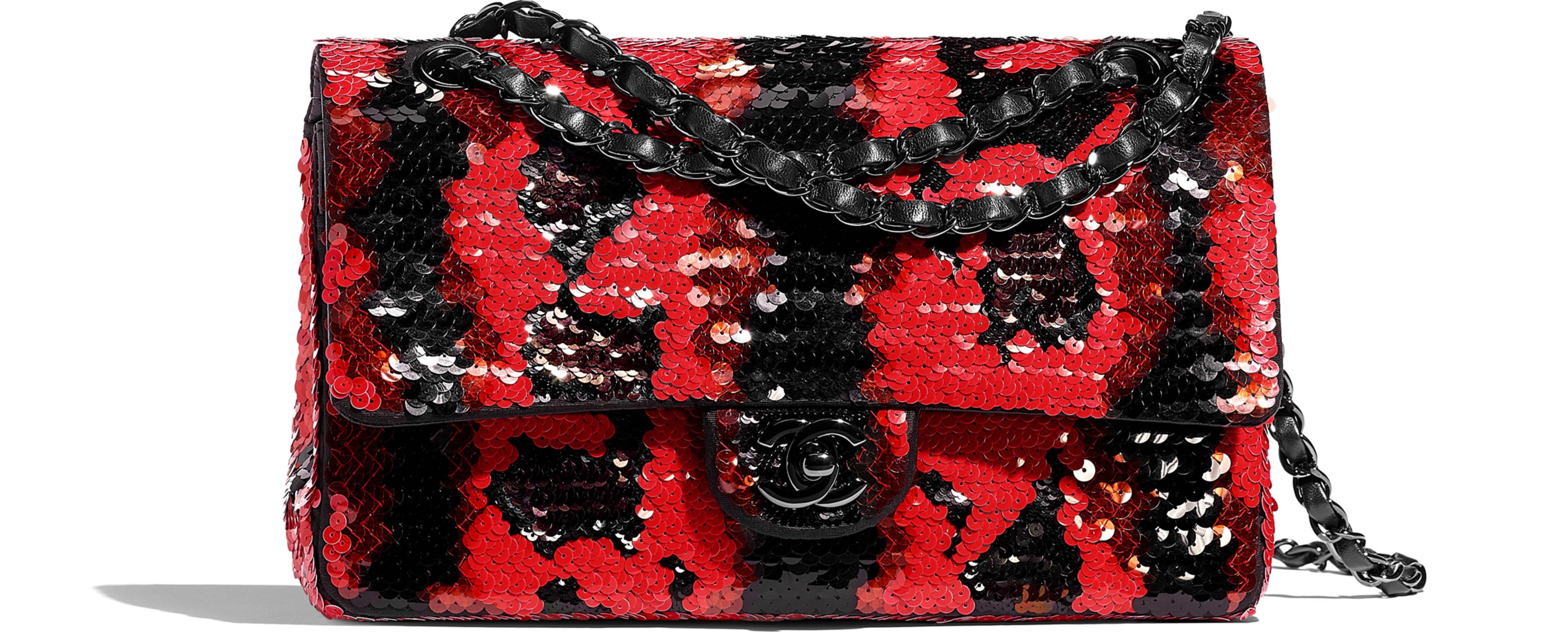 Sequins & Black Metal Red & Black