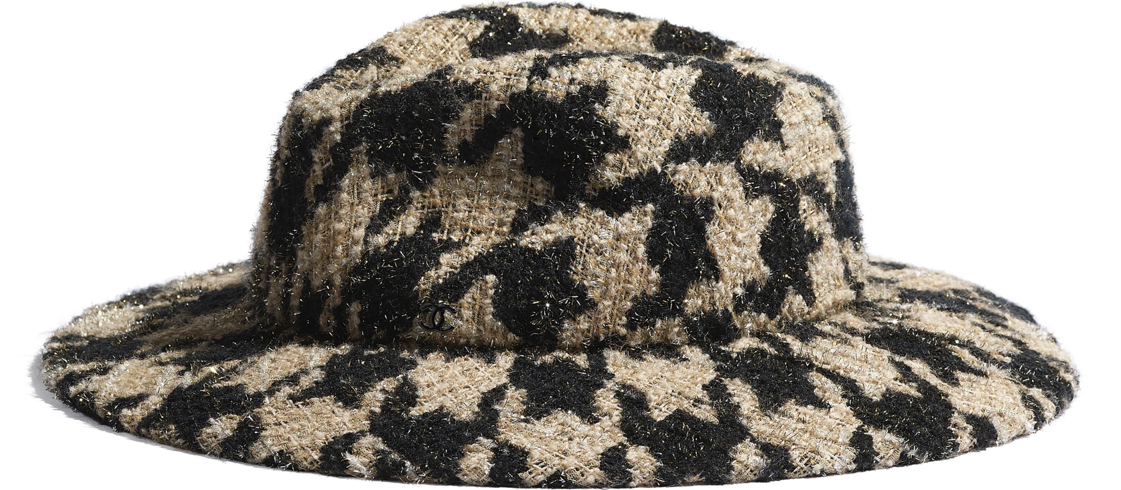 Tweed & Felt Beige & Black
