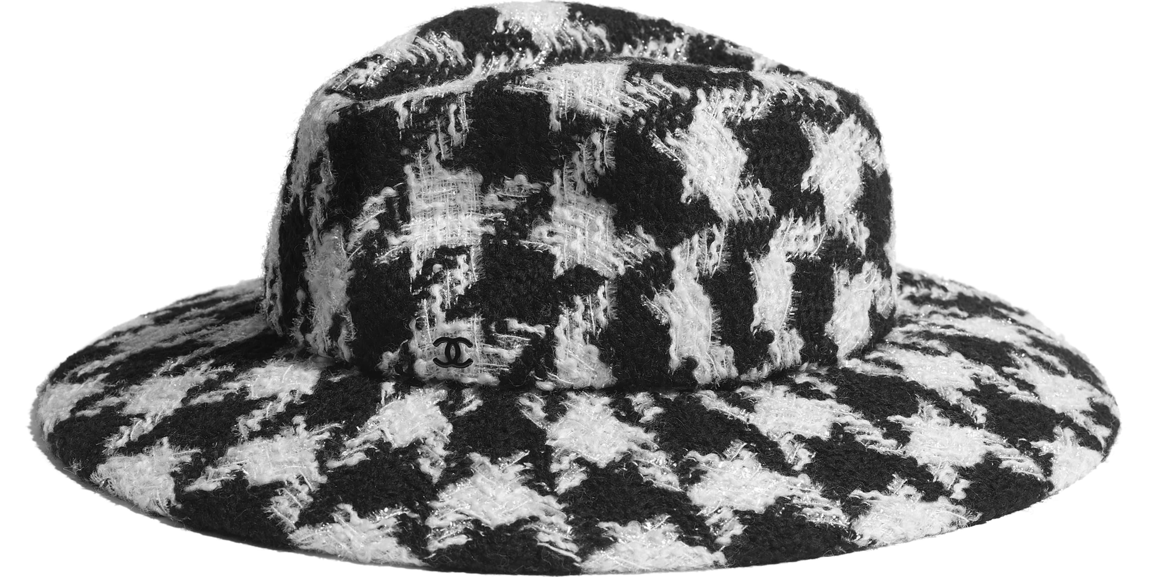 Felt & Wool Tweed Black & Ecru
