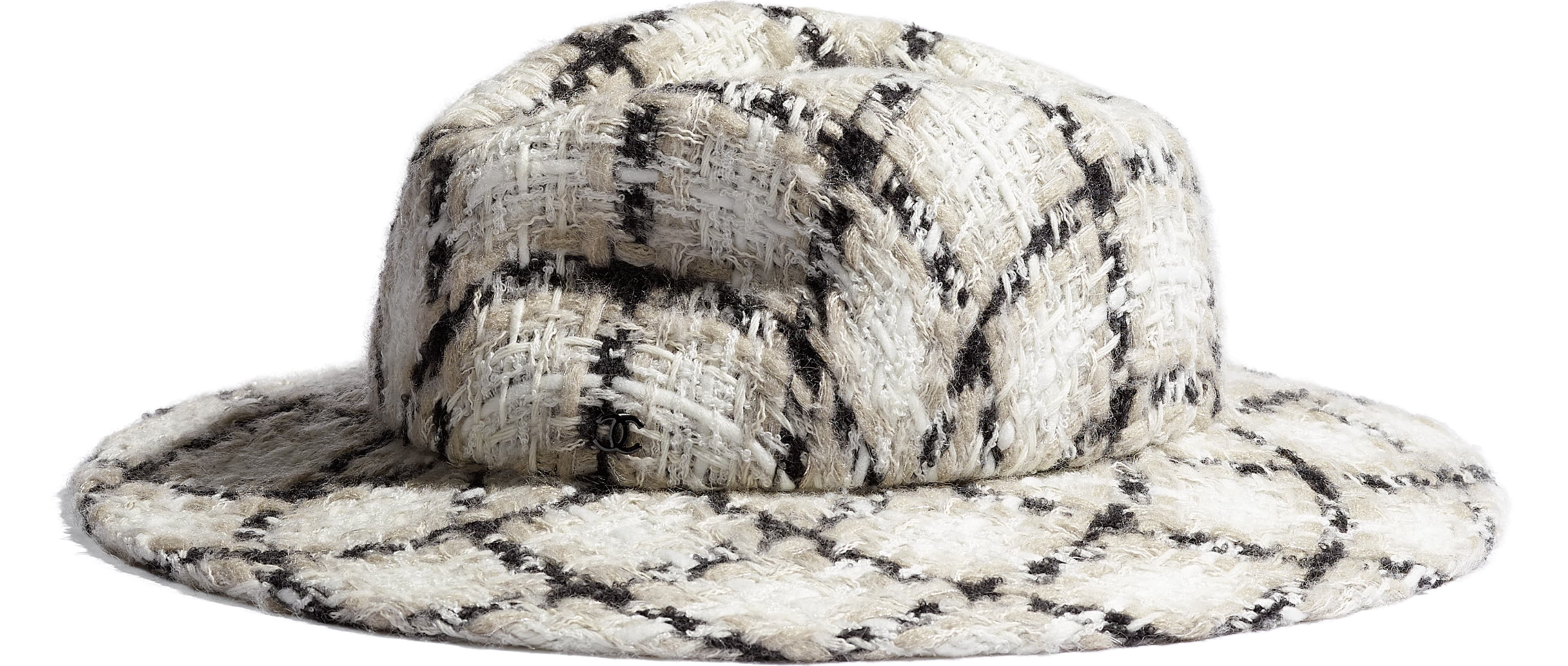 Felt & Wool Tweed Ecru, Black & Grey