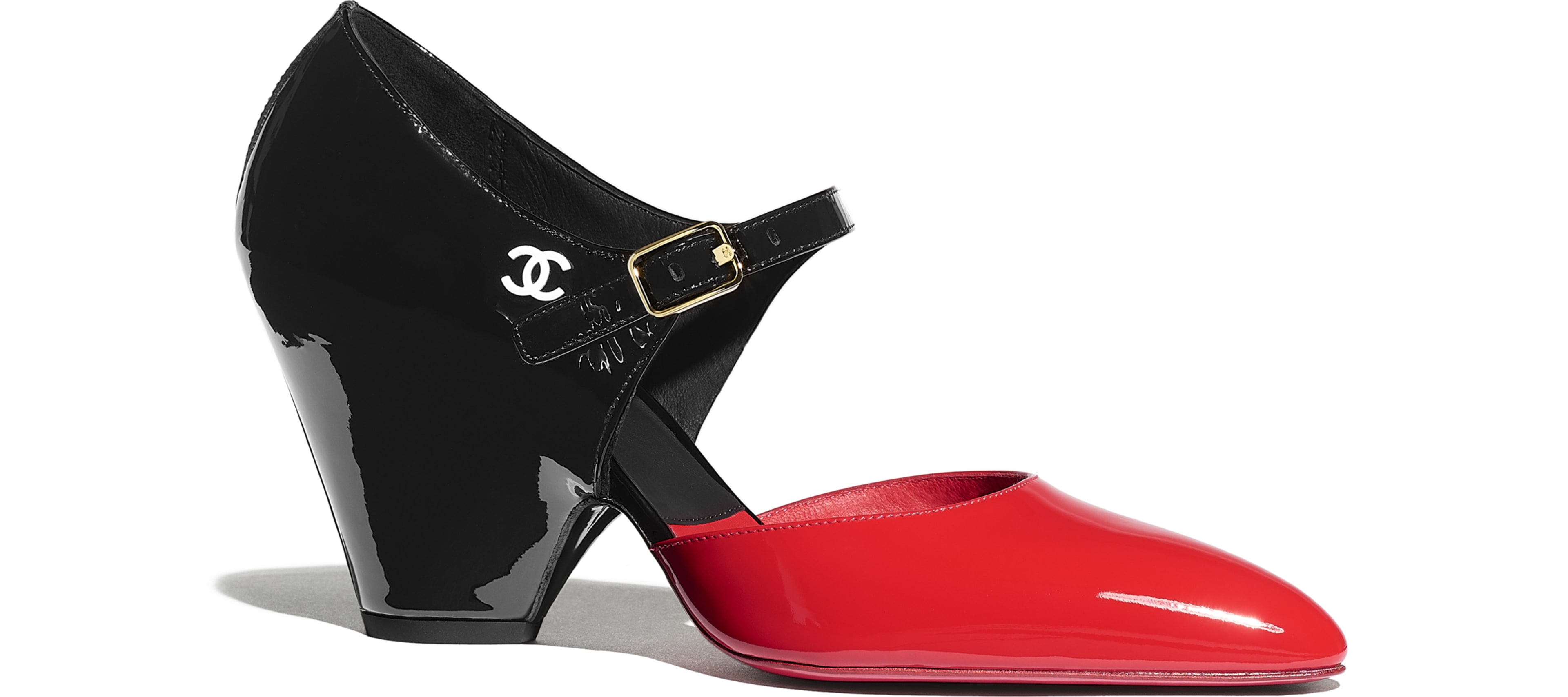 Patent Calfskin Red & Black