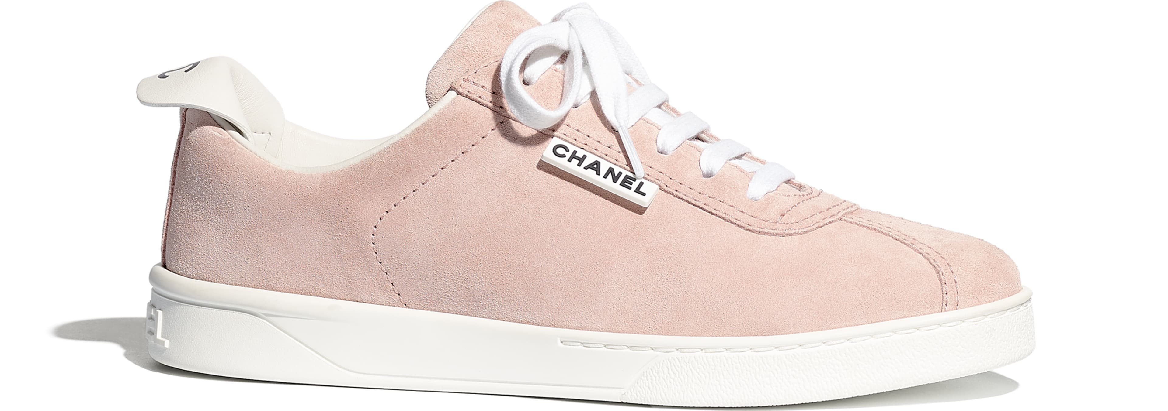 chanel pink tennis shoes