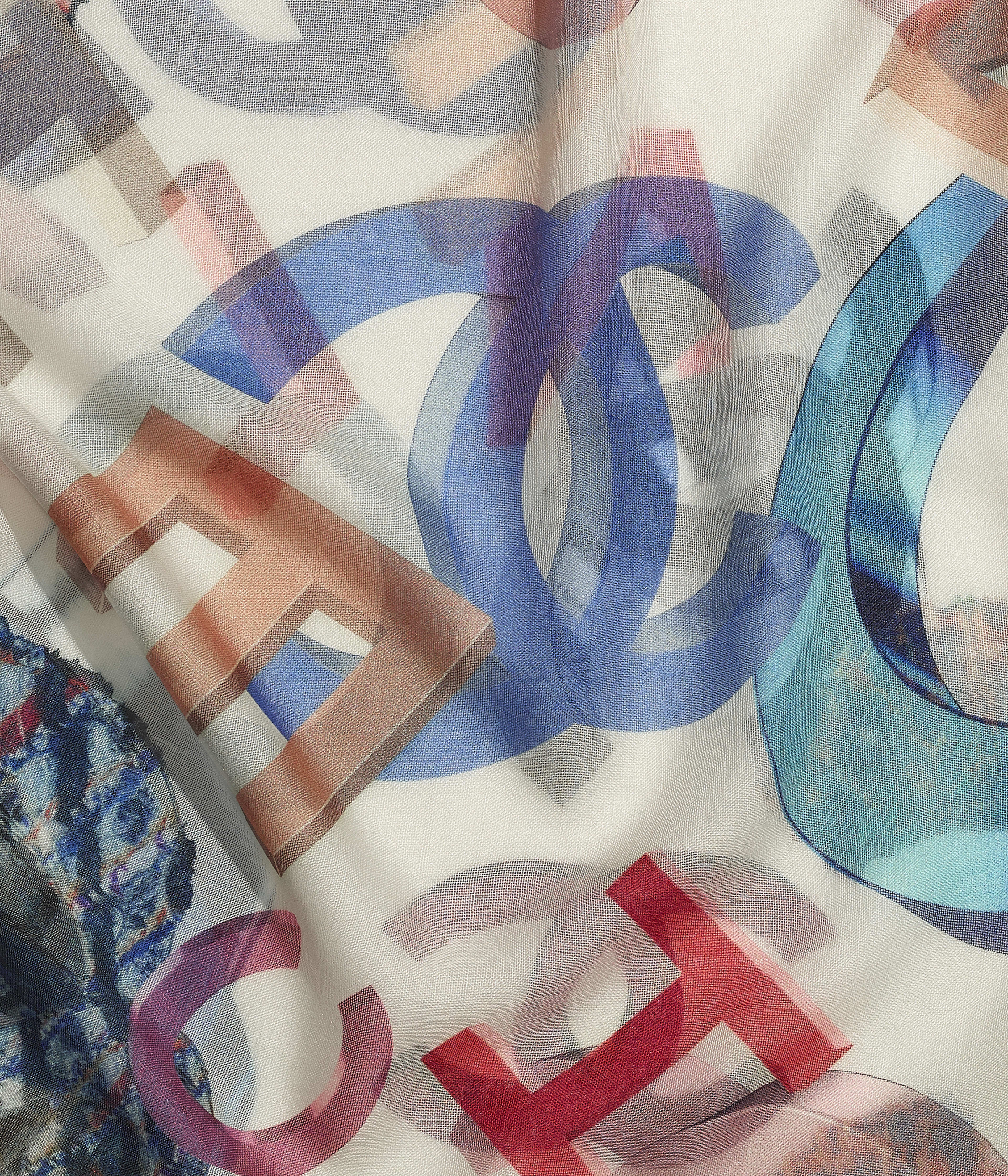 Cashmere & Silk Ivory & Multicolour