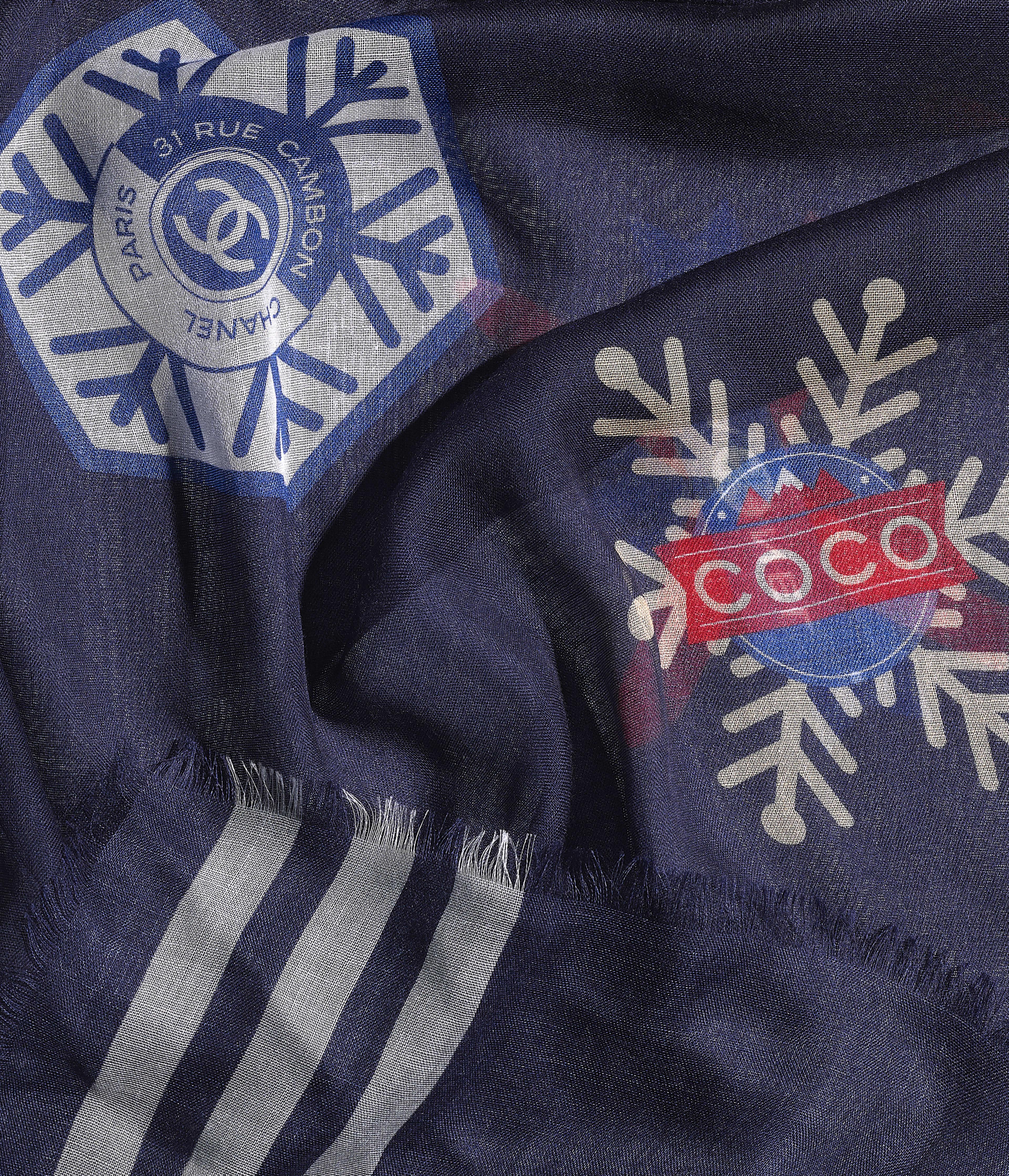 Cashmere & Silk Navy Blue
