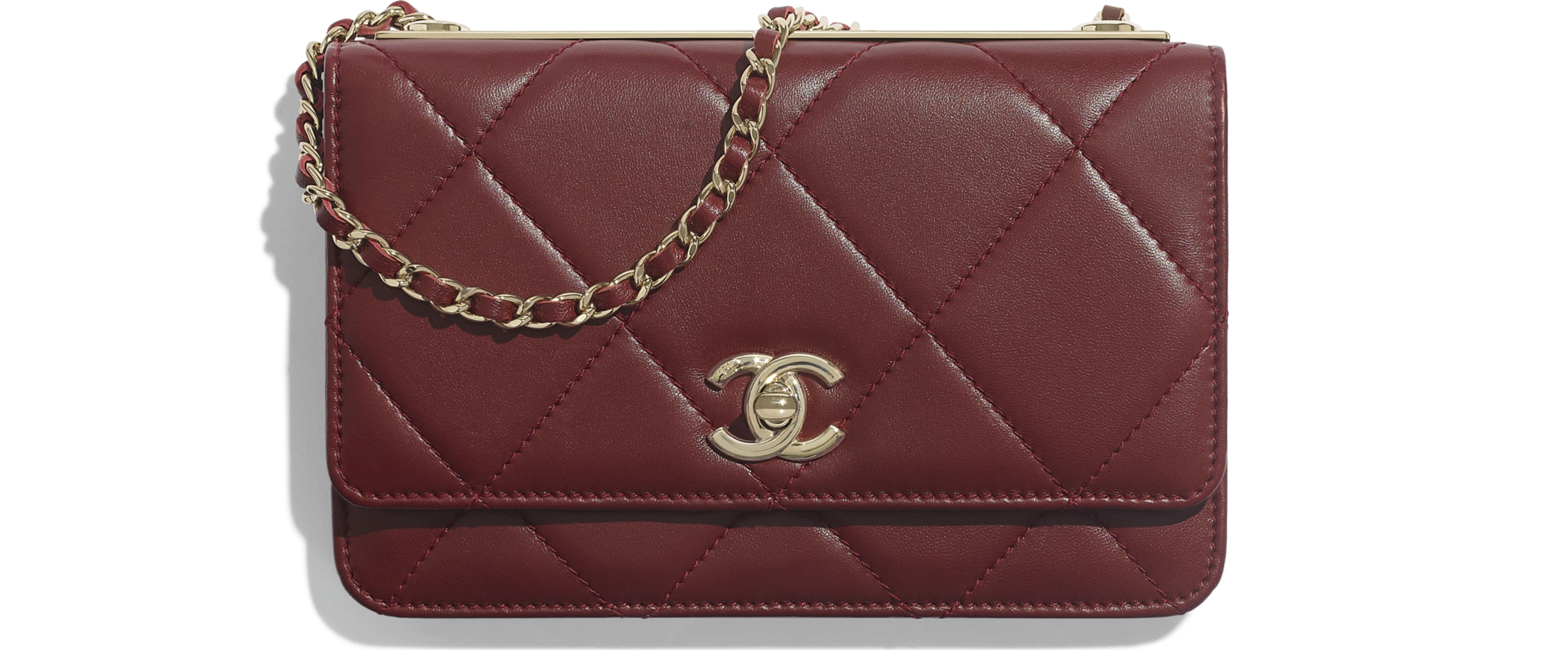 Lambskin & Gold-Tone Metal Burgundy