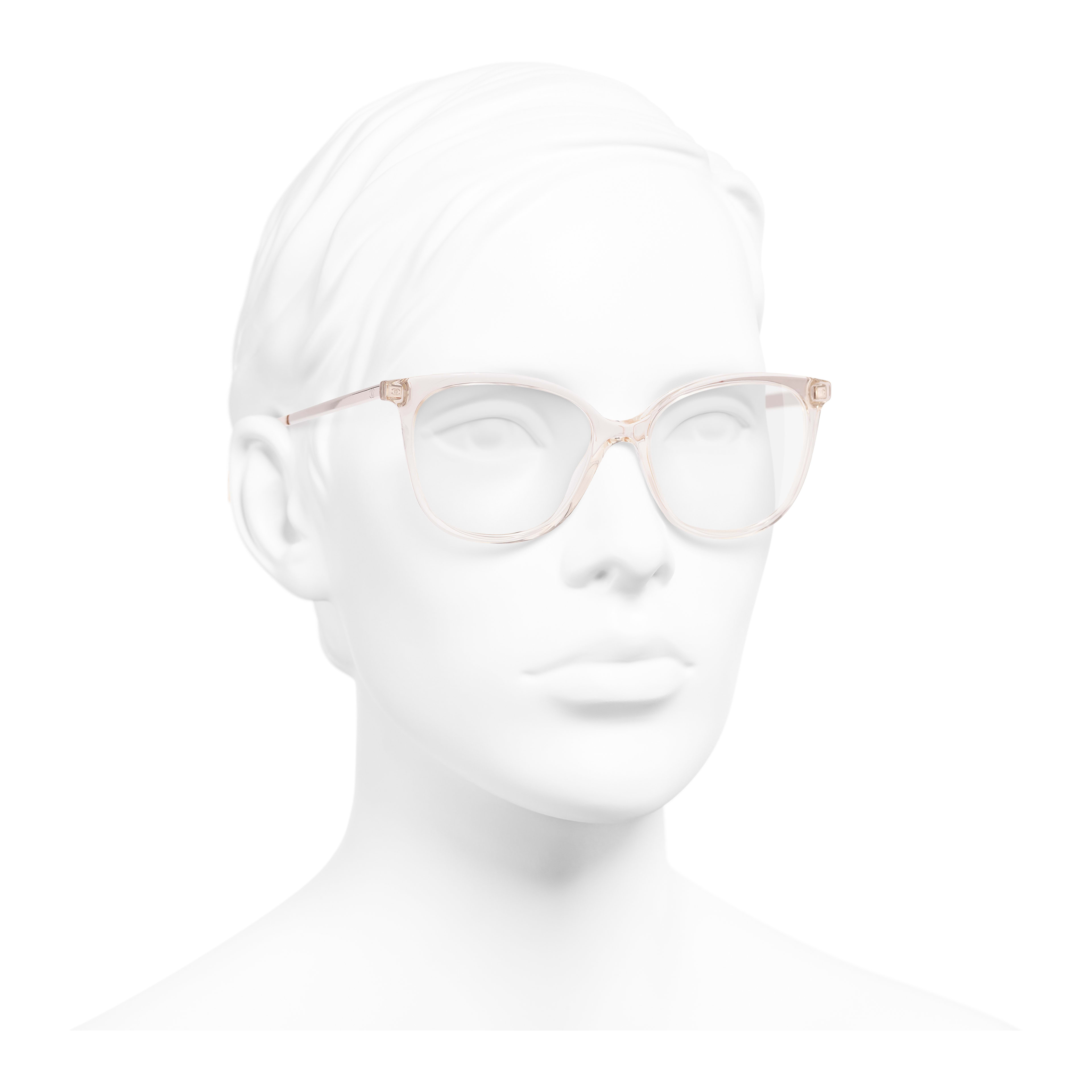 Butterfly Eyeglasses - Pink - Acetate & Metal - Worn 3/4 view - see full sized version