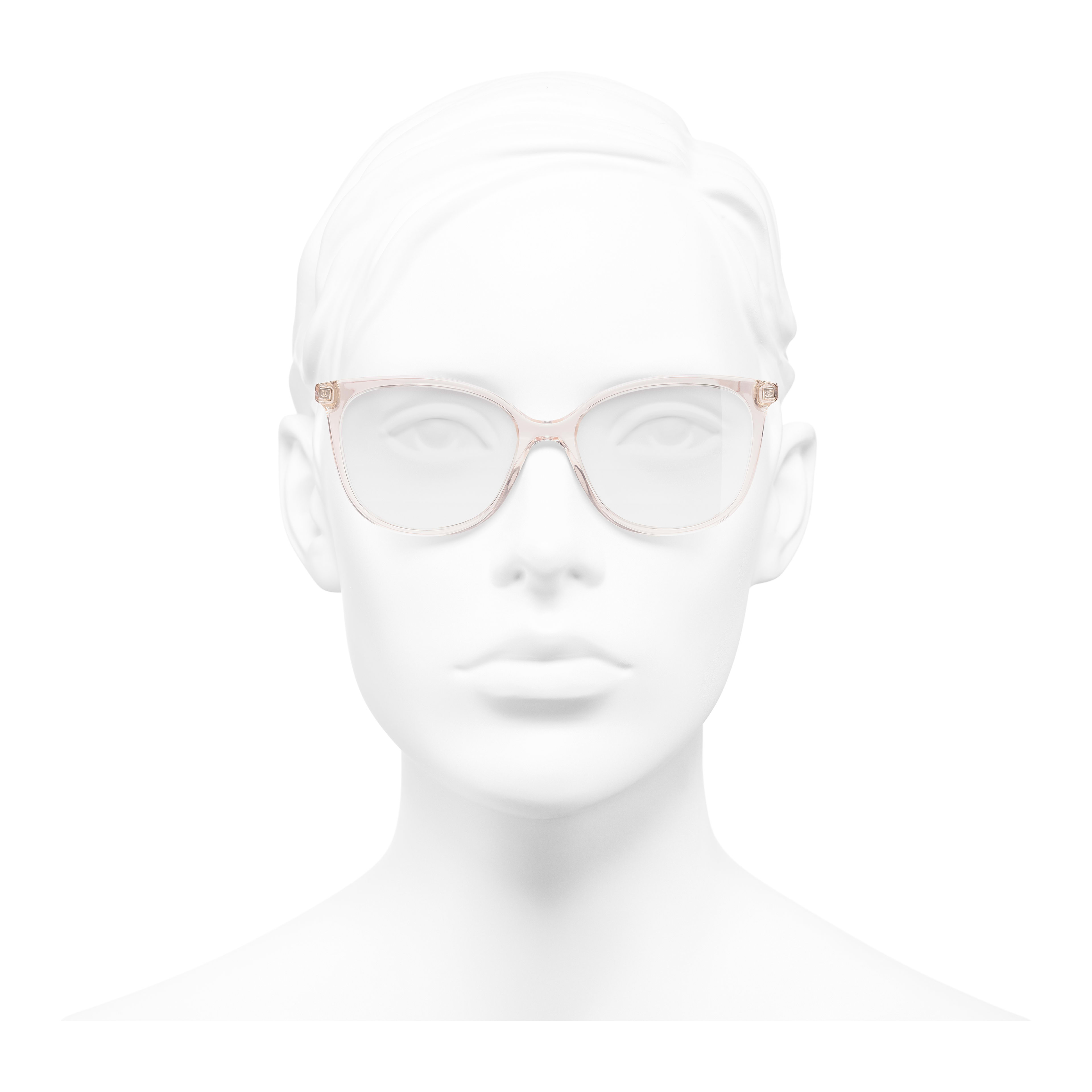 Butterfly Eyeglasses - Pink - Acetate & Metal - Worn front view - see full sized version