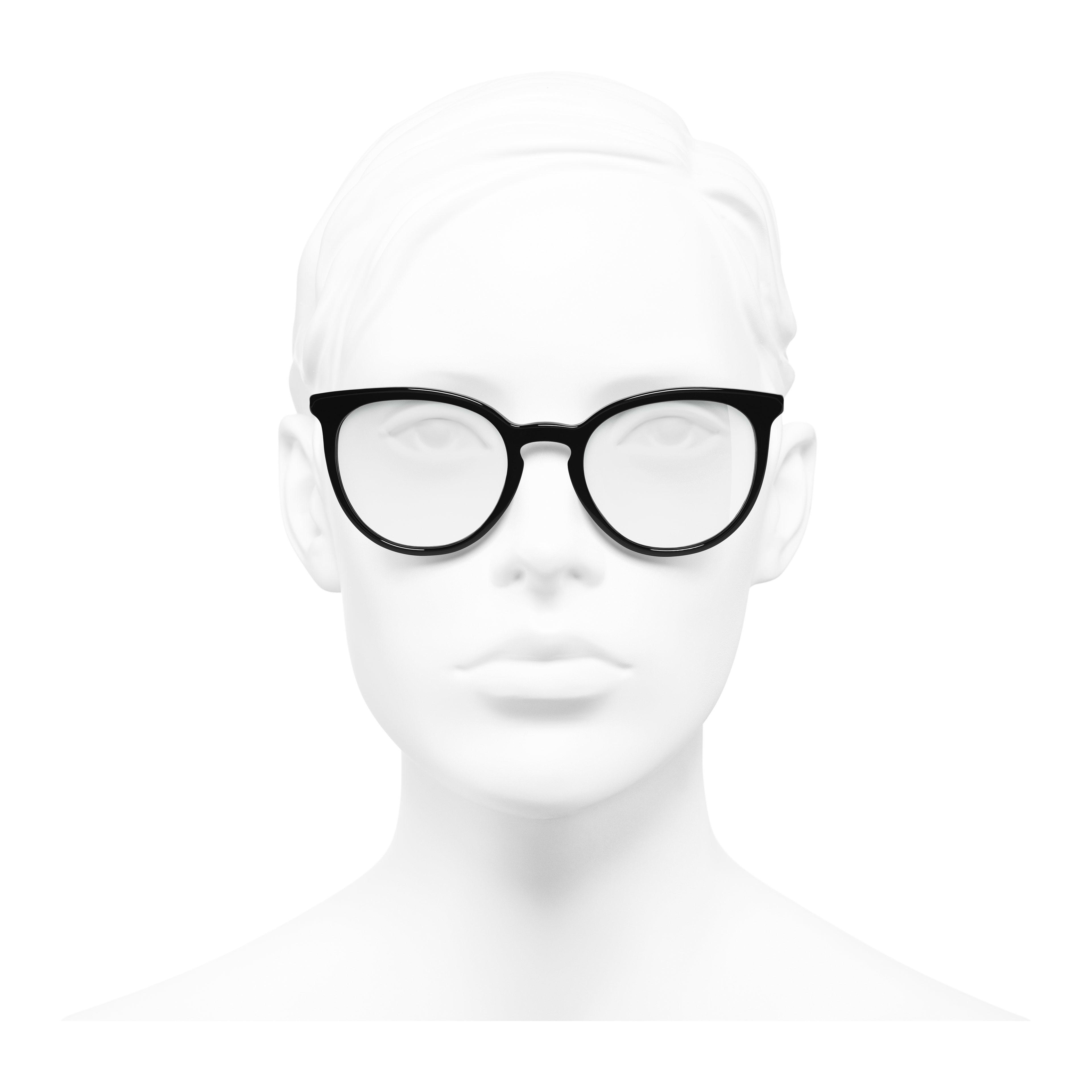 แว่นสายตาทรง Pantos (แพนโทส) - สีดำ - อะซิเตทและมุก - มุมมองการสวมใส่ด้านหน้า - ดูเวอร์ชันขนาดเต็ม