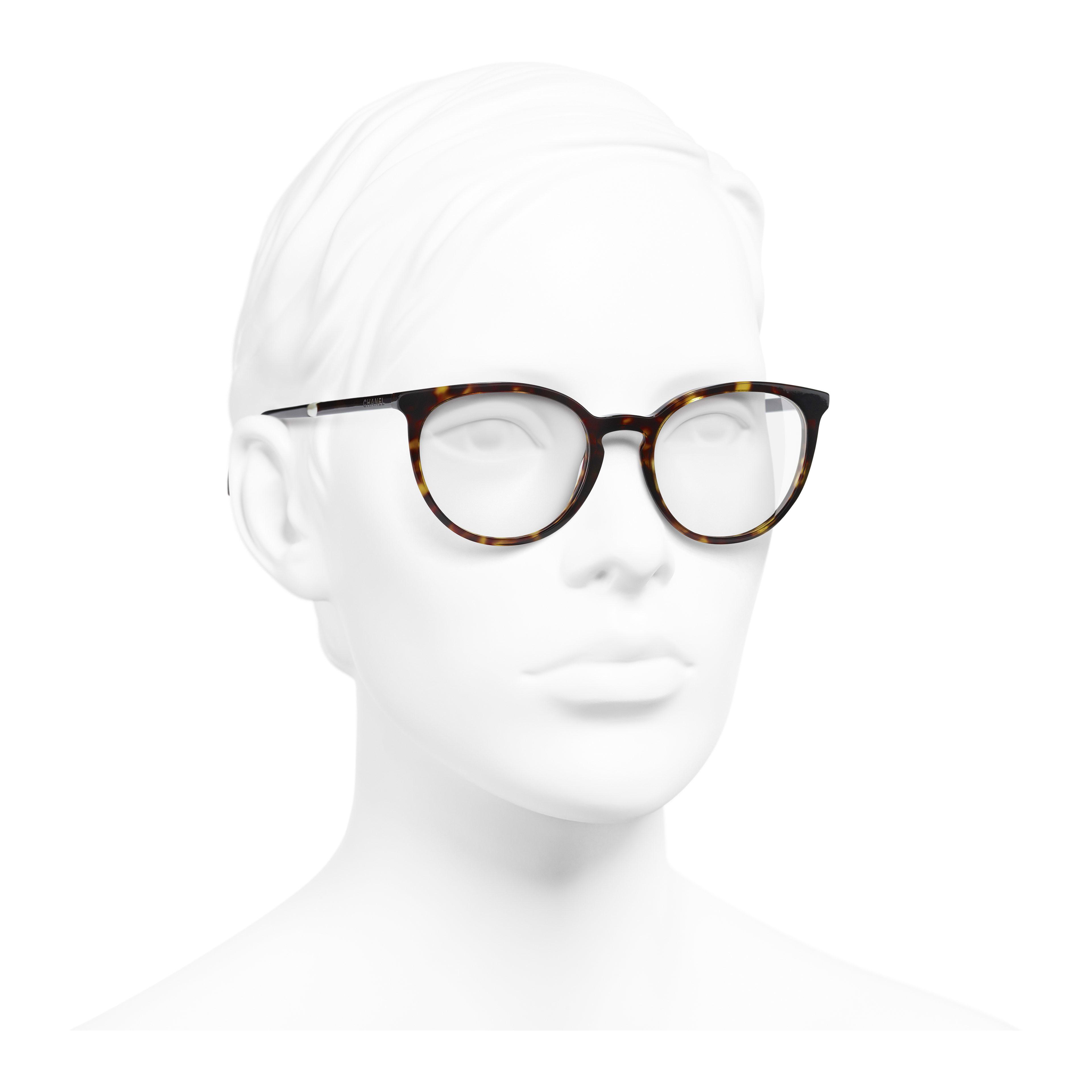 แว่นสายตาทรง Pantos (แพนโทส) - สีกระเข้ม - อะซิเตทและมุก - มุมมองการสวมใส่ 3/4 - ดูเวอร์ชันขนาดเต็ม