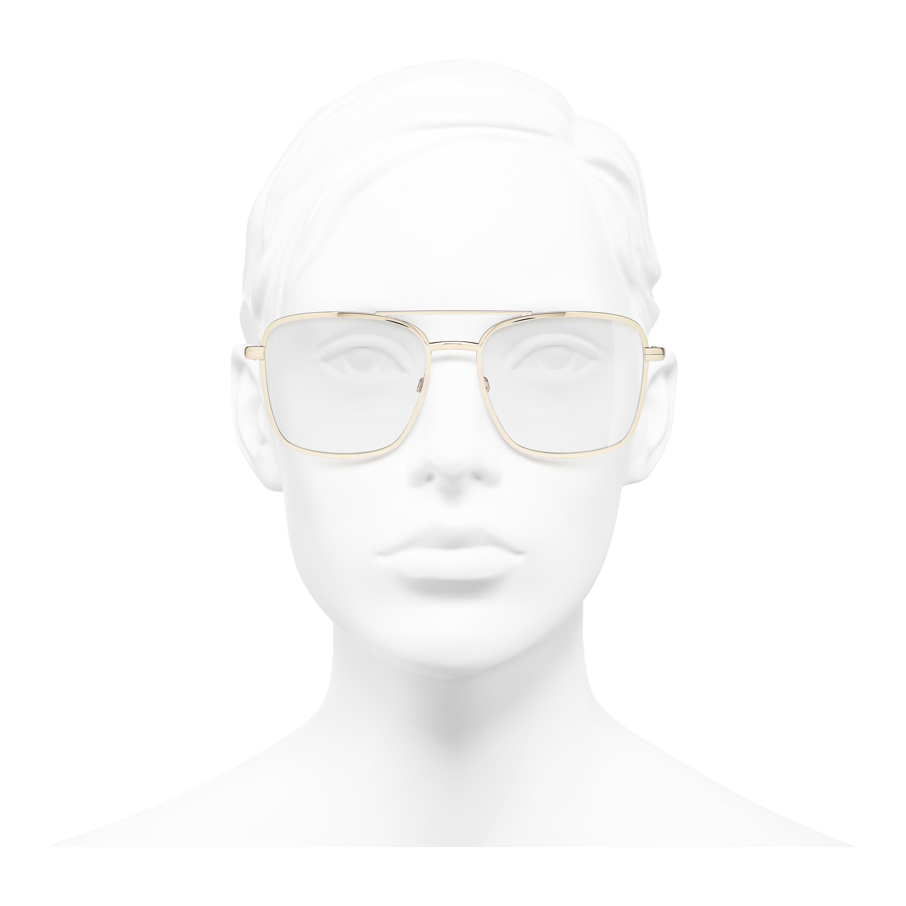 飛行員眼鏡 - 金 - 金屬 - 配戴時的正面視圖 - 查看全尺寸版本