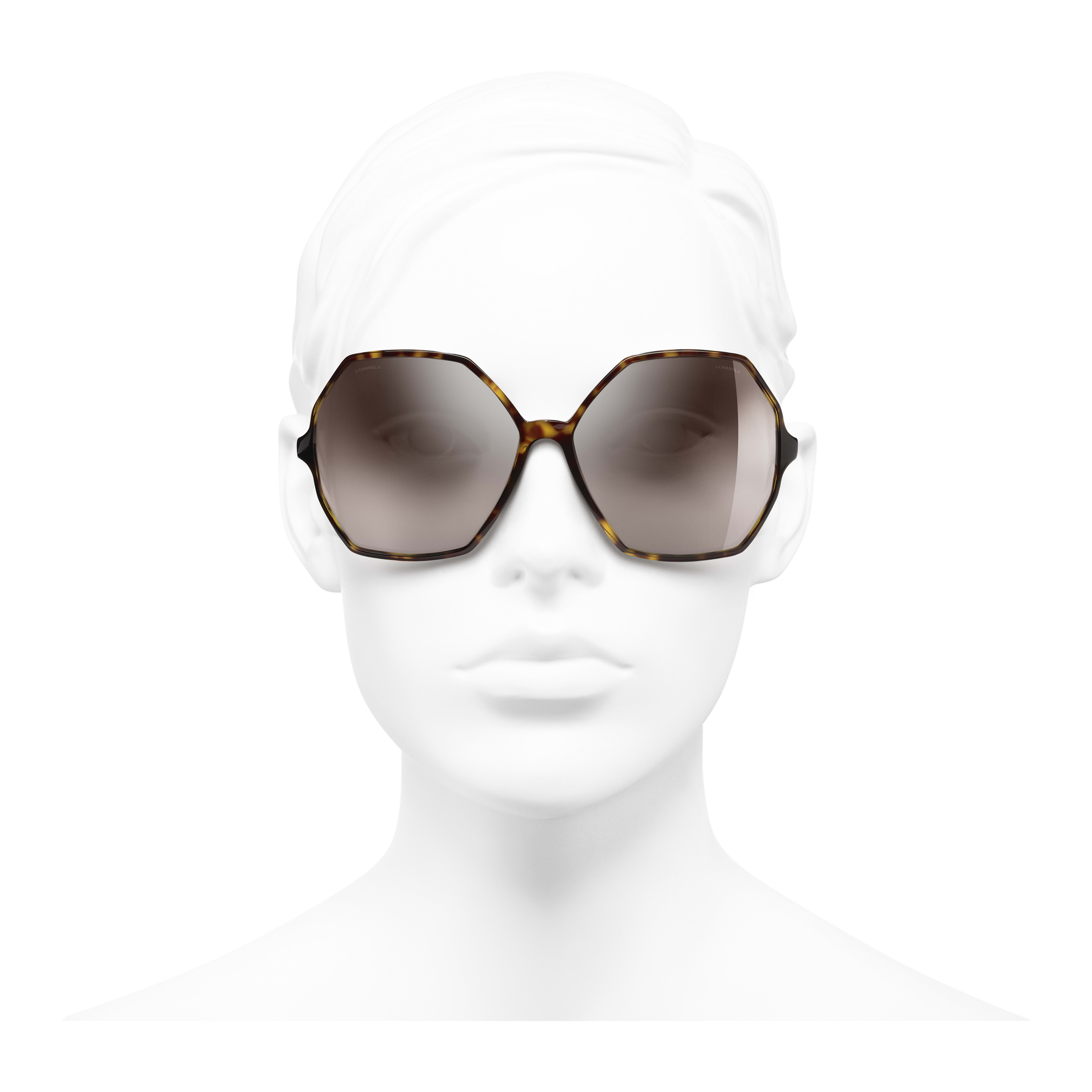 Round Sunglasses - Dark Tortoise - Acetate, Wood & Rubber - Worn front view - see full sized version