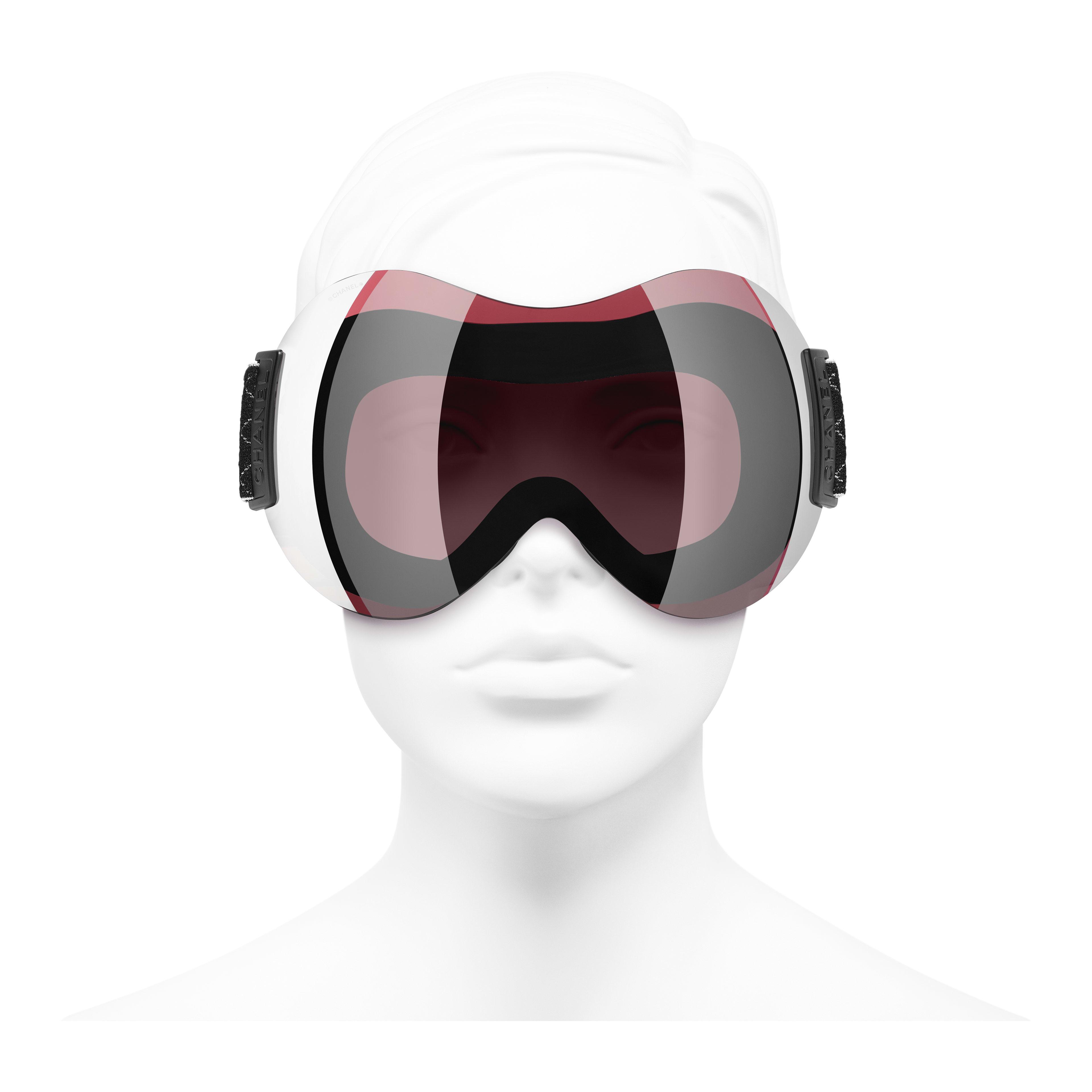 Солнцезащитные очки-маска - Черный - Нейлон - Вид анфас - посмотреть полноразмерное изображение