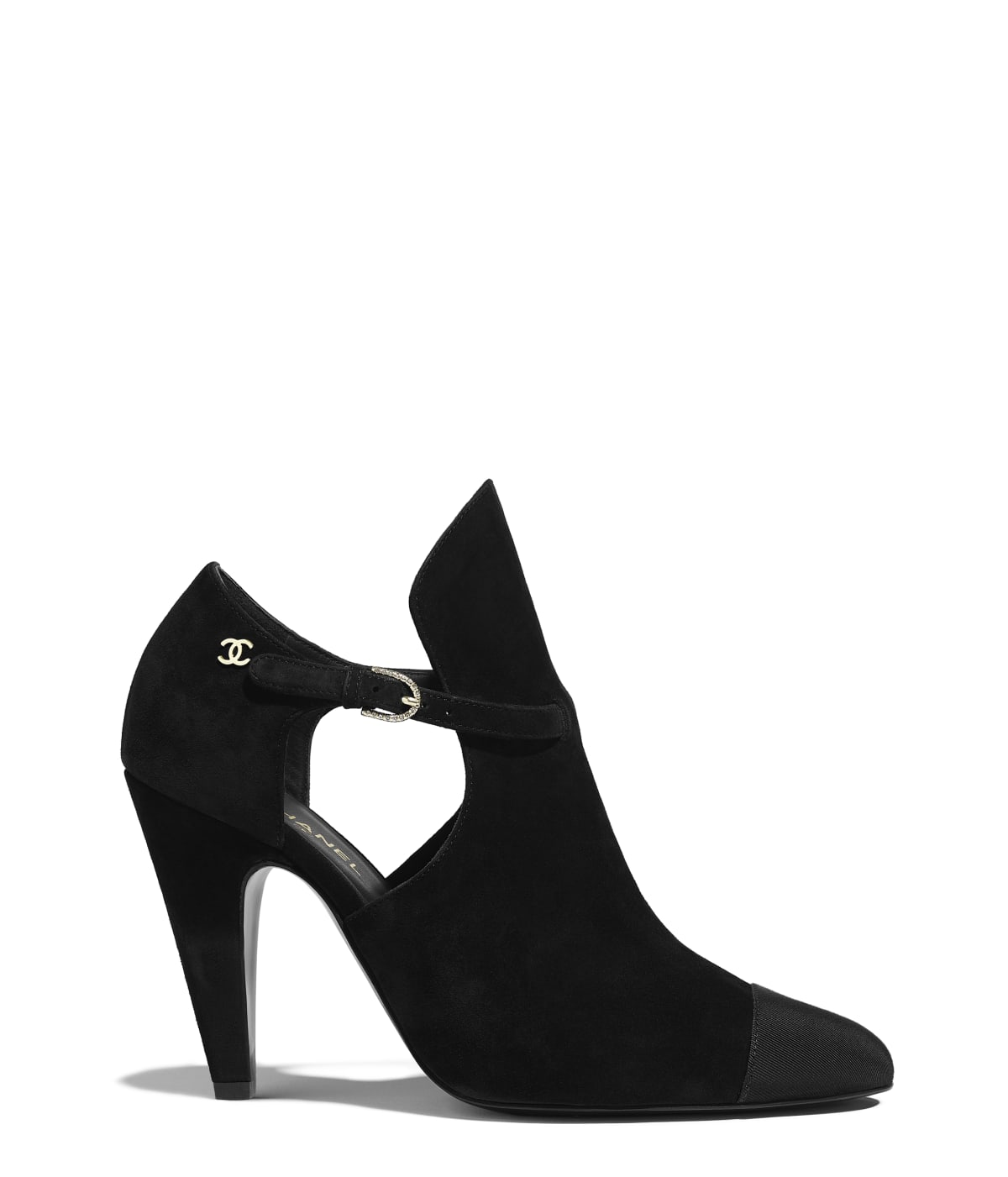 Ankle Boots, suede calfskin \u0026 grosgrain