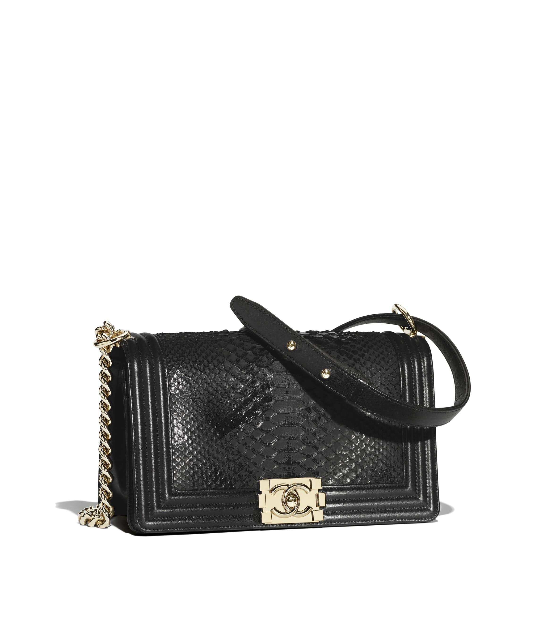 Boy Chanel Handbag Python