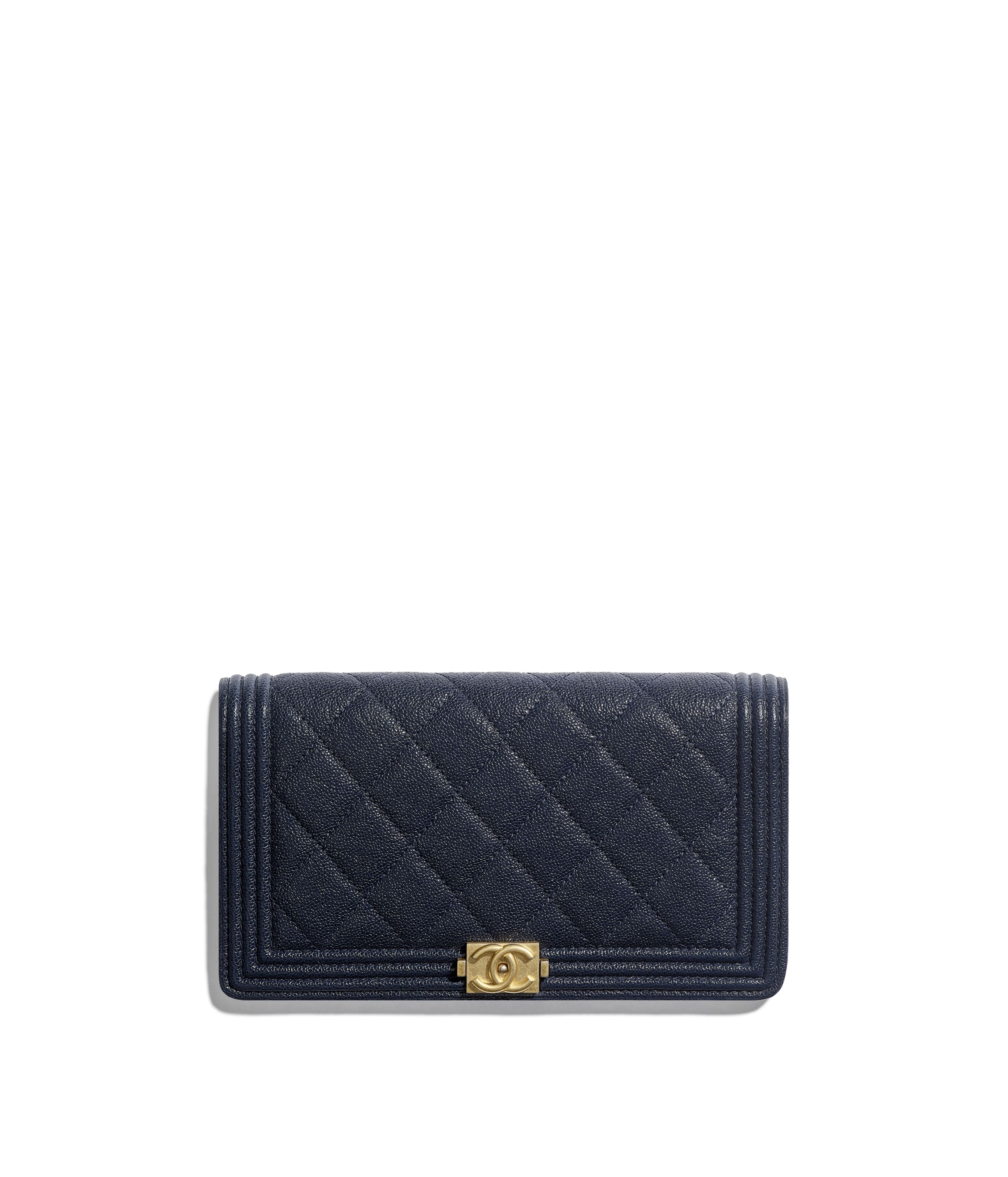 d35ddd5e598 BOY CHANEL Long Flap Wallet, grained calfskin & gold-tone metal ...