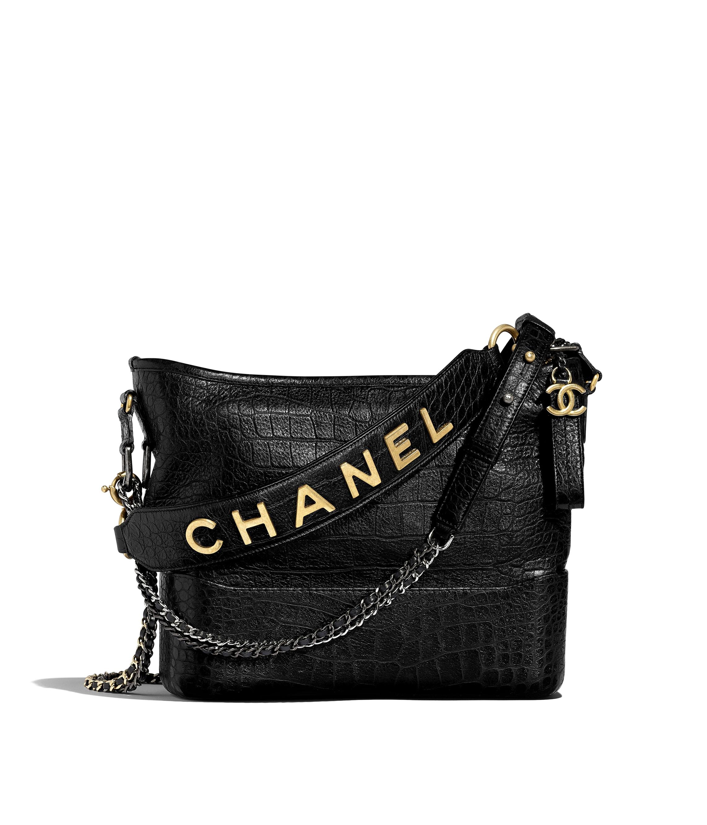 bff6db0e7ef659 CHANEL'S GABRIELLE Hobo Bag, crocodile embossed calfskin, gold-tone ...
