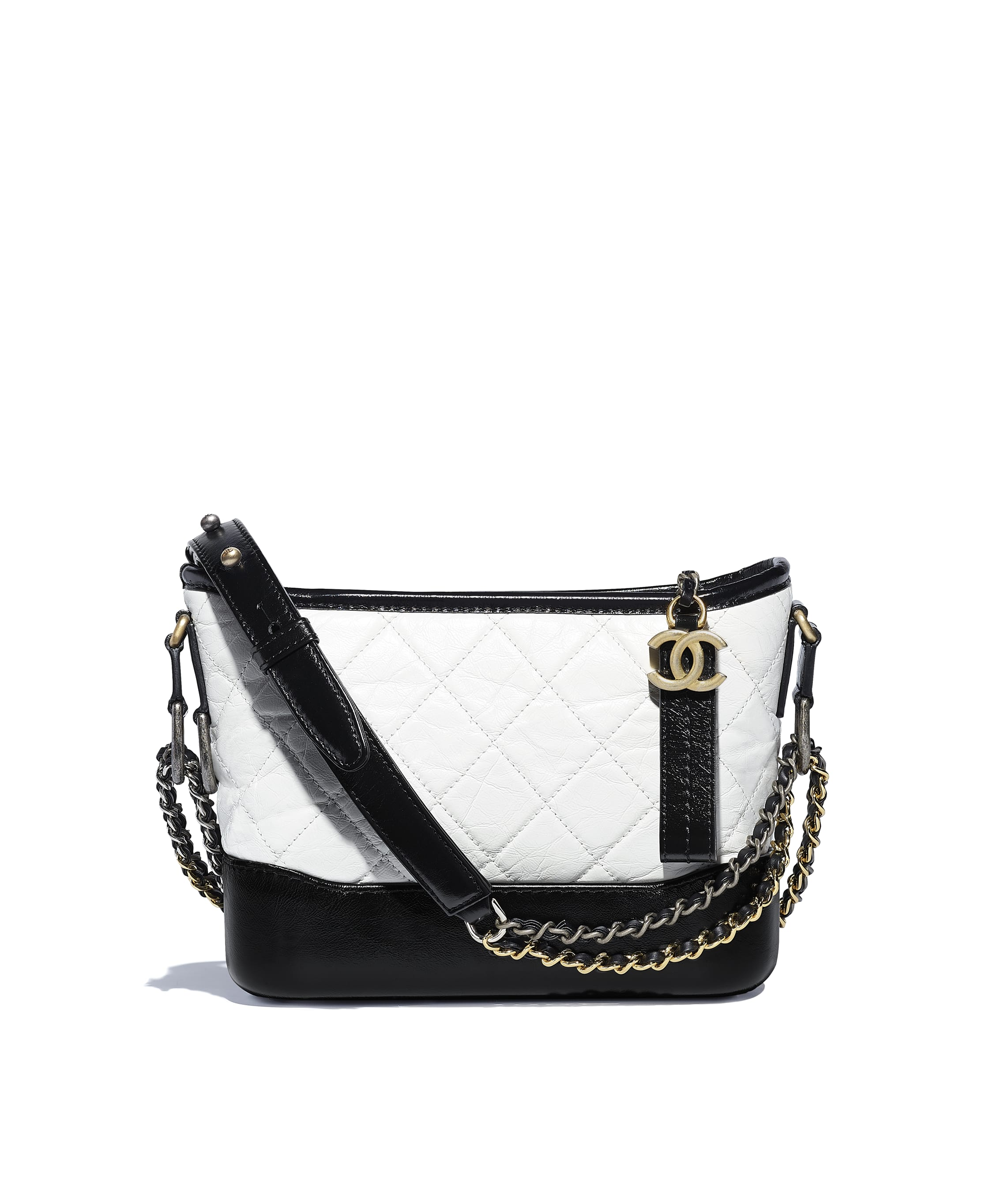698e73f614c535 CHANEL'S GABRIELLE Small Hobo Bag, aged calfskin, smooth calfskin ...