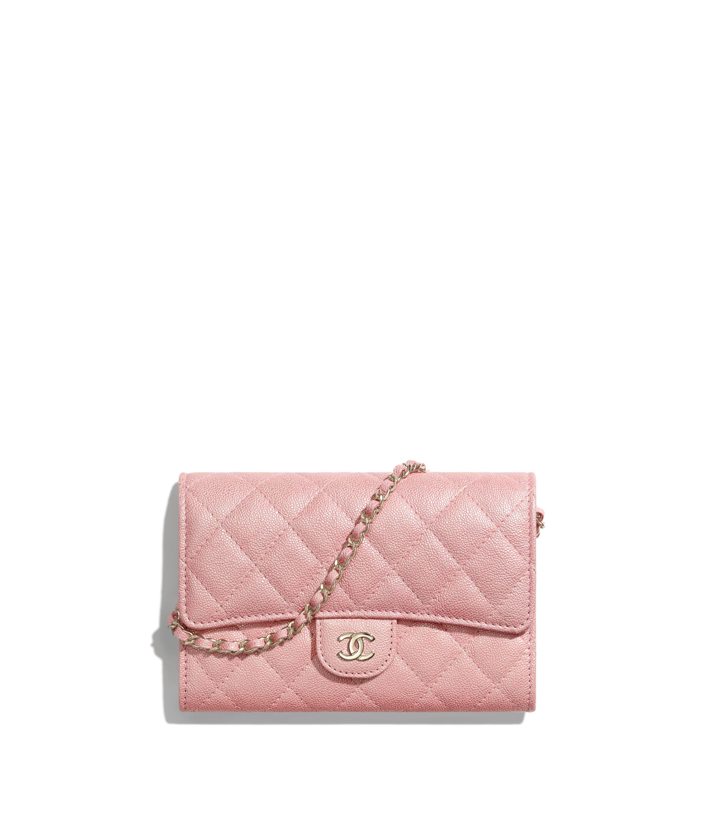 5b337838 Classic Clutch with Chain, iridescent grained calfskin & gold-tone ...