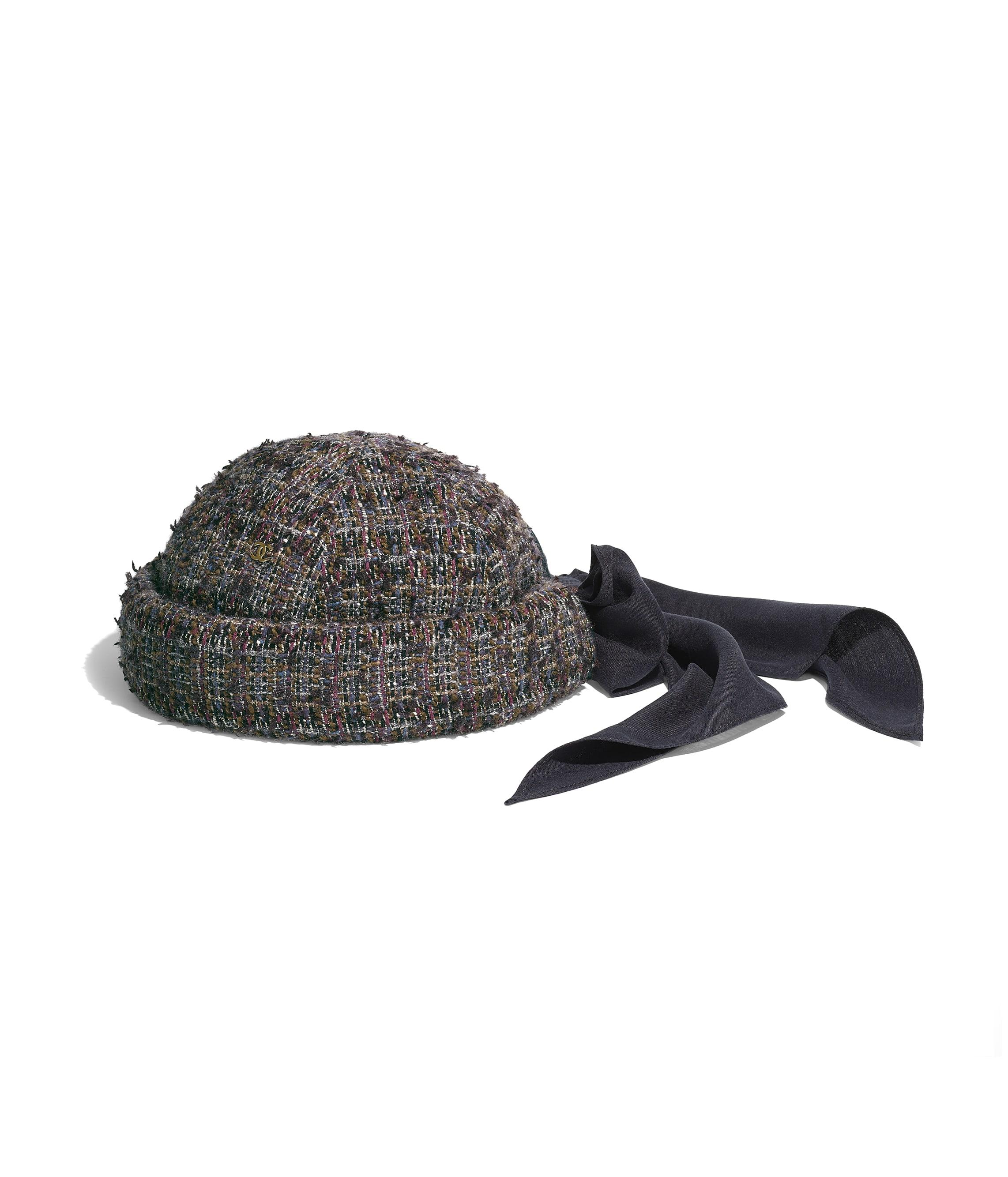 7c71f0cf499 Hat. Tweed   silk. Brown