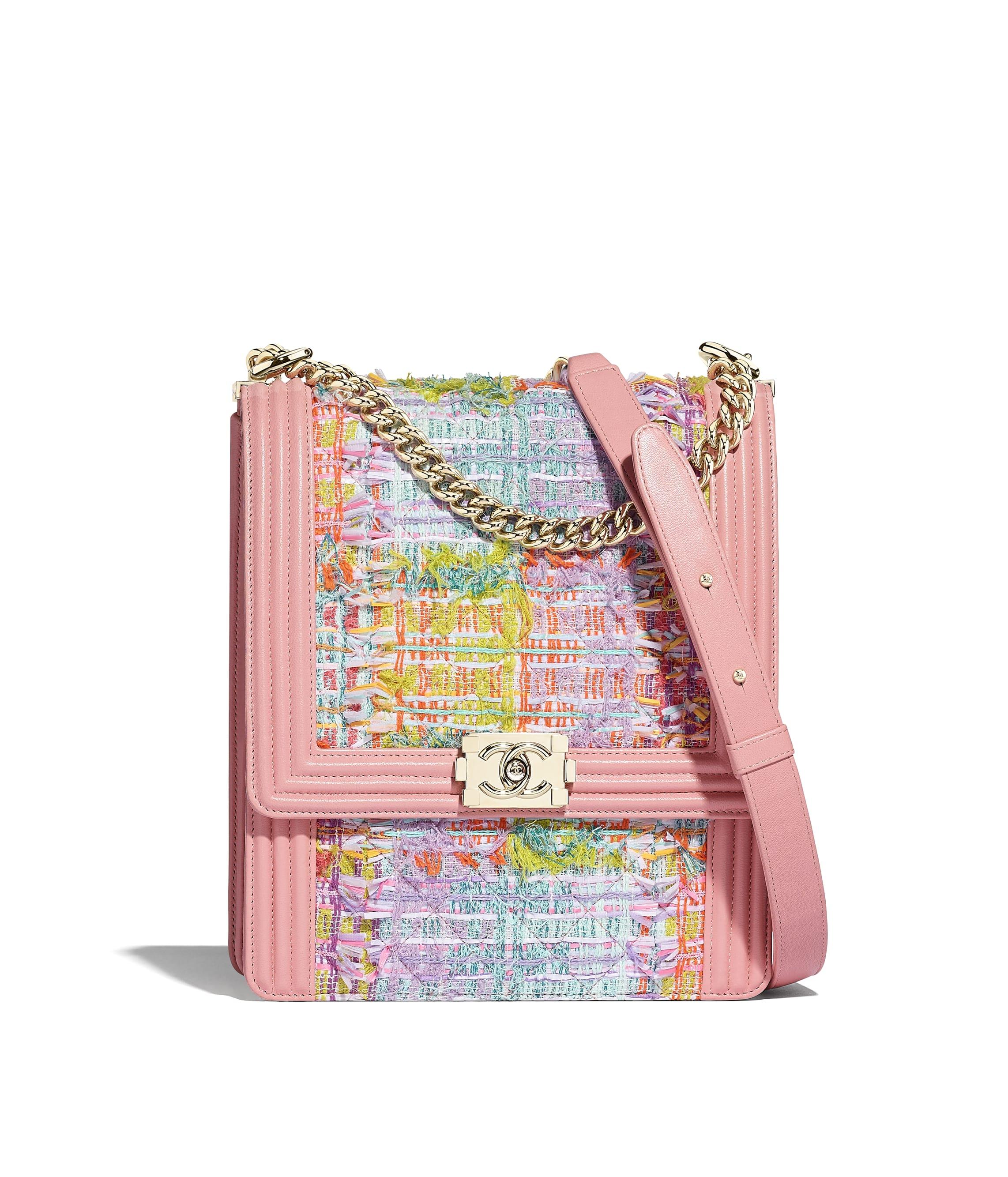 15faf1765ddc Large BOY CHANEL Handbag. Tweed ...