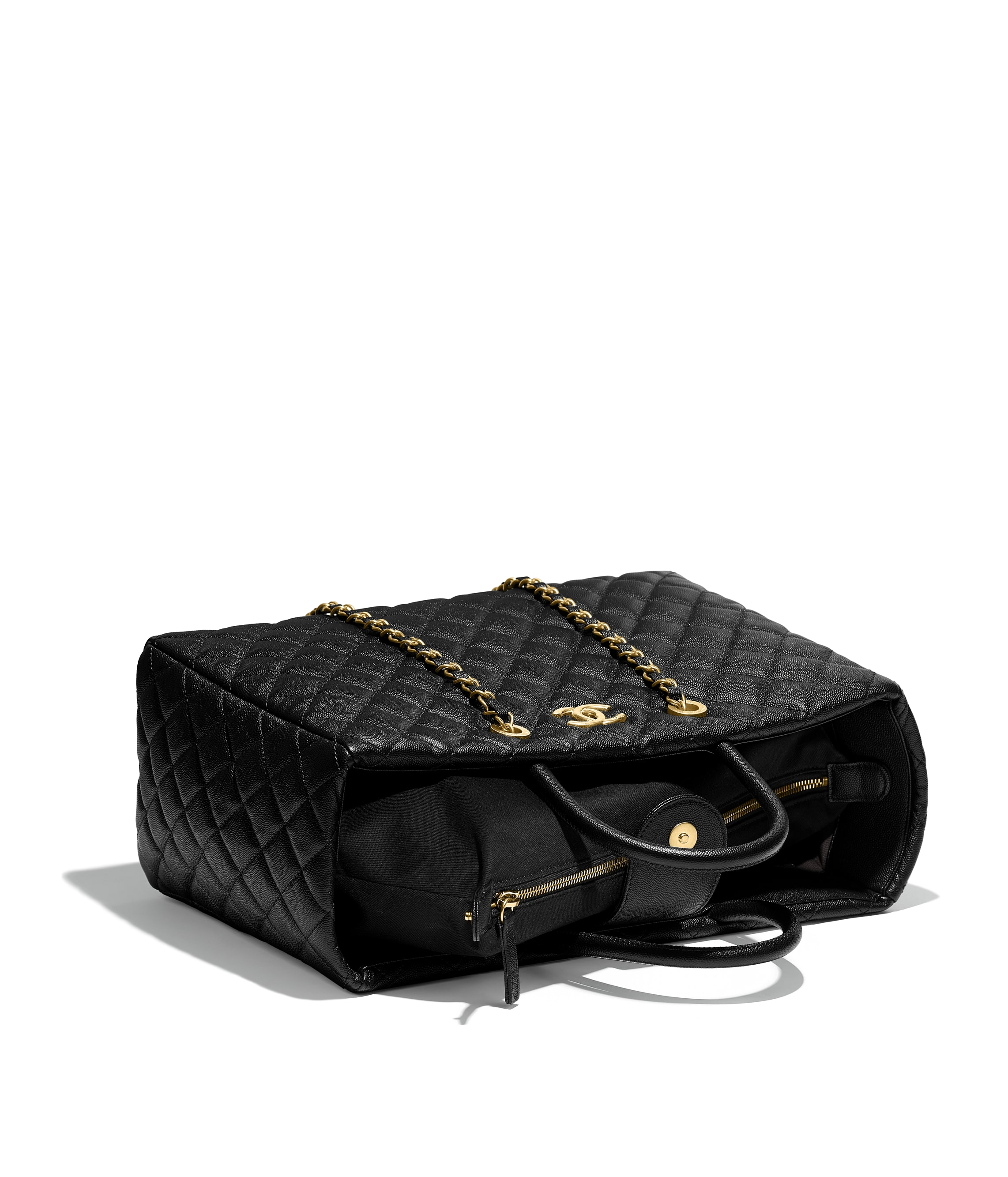 691570462c1 Chanel Black Shopping Bag Set of 2 Ribbon