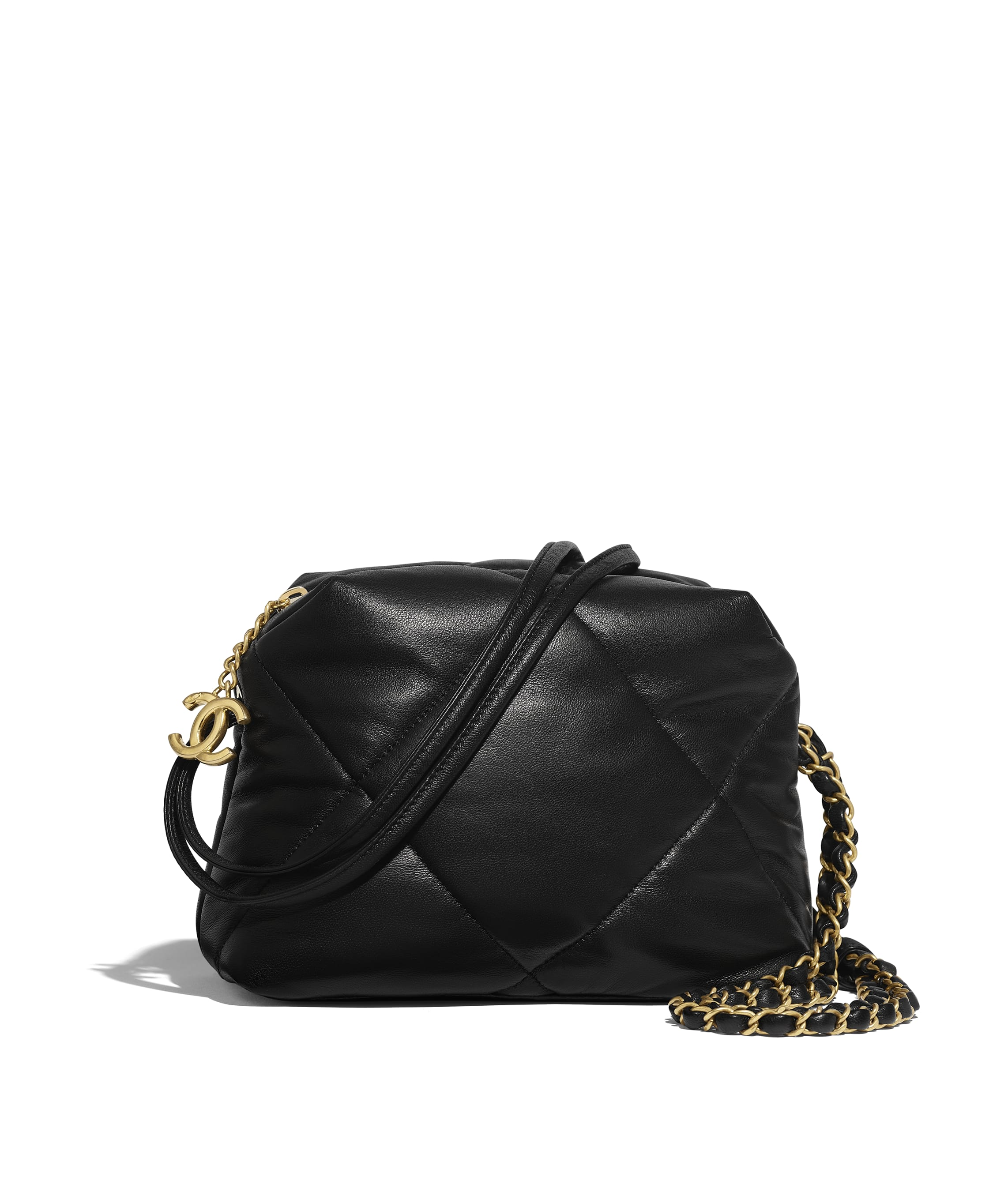 Small Bowling Bag Lambskin Black Chanel