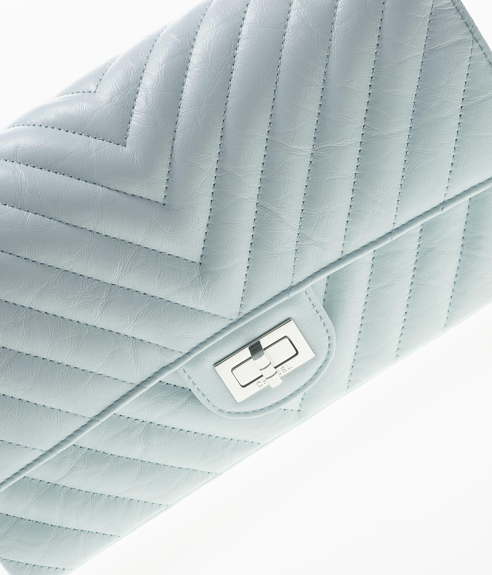 image 4 - 2.55 Handbag - Aged Calfskin & Silver-Tone Metal - Light Blue