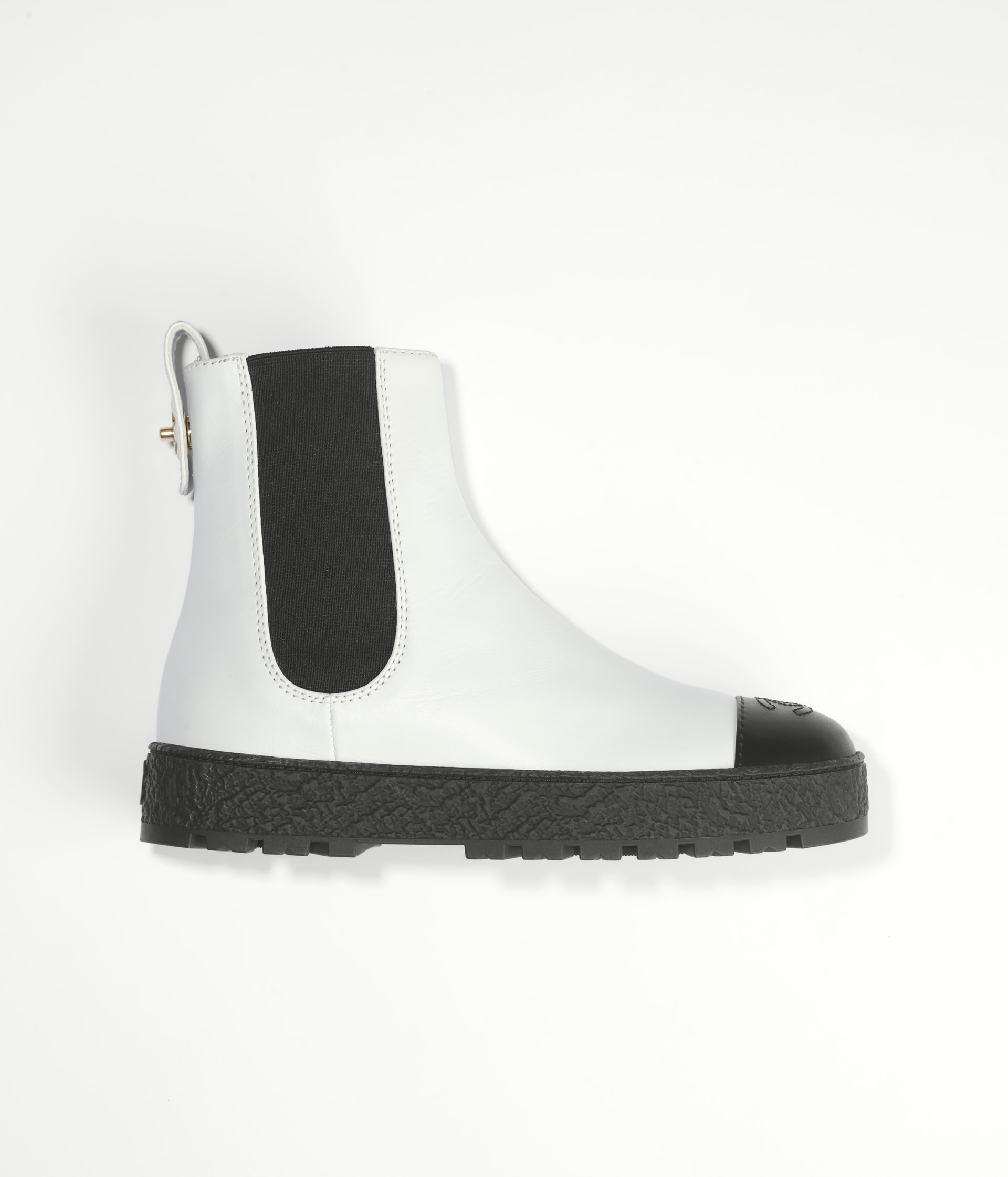 image 1 - Ankle Boots - Calfskin - White & Black