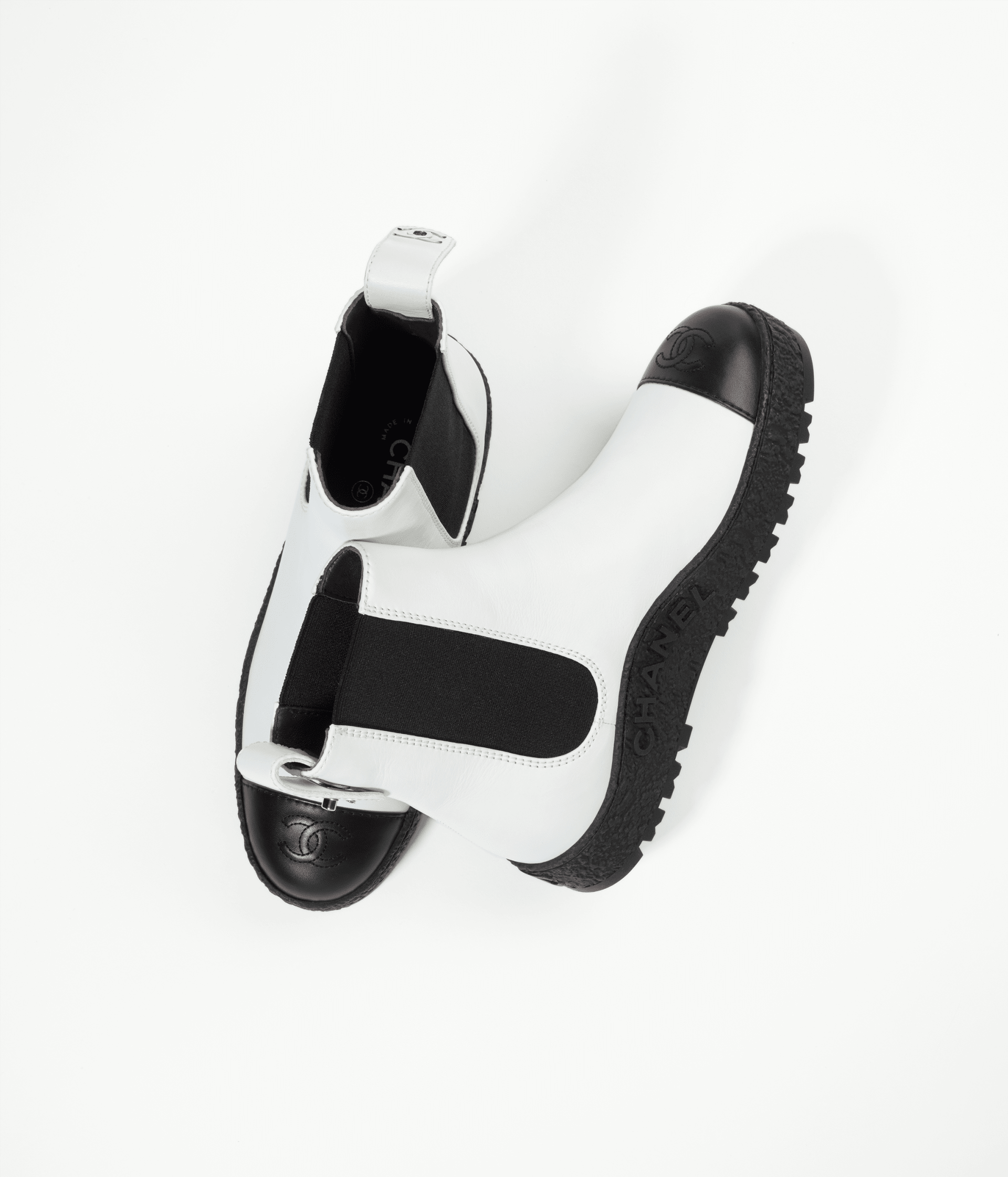 image 2 - Ankle Boots - Calfskin - White & Black