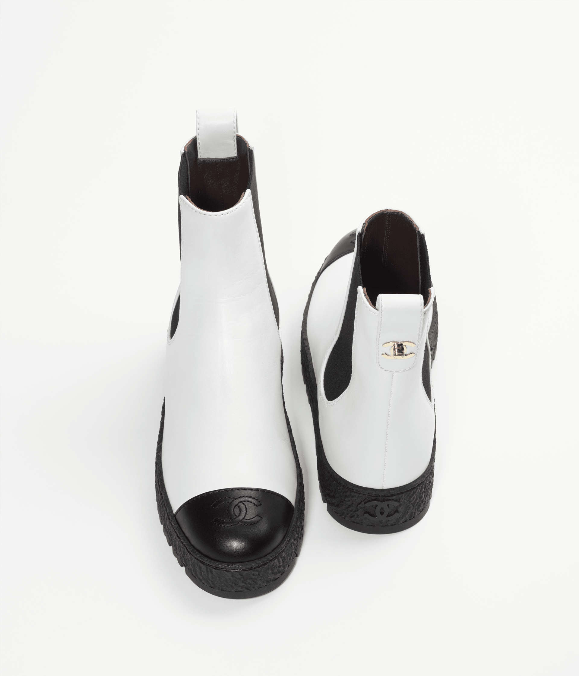 image 3 - Ankle Boots - Calfskin - White & Black