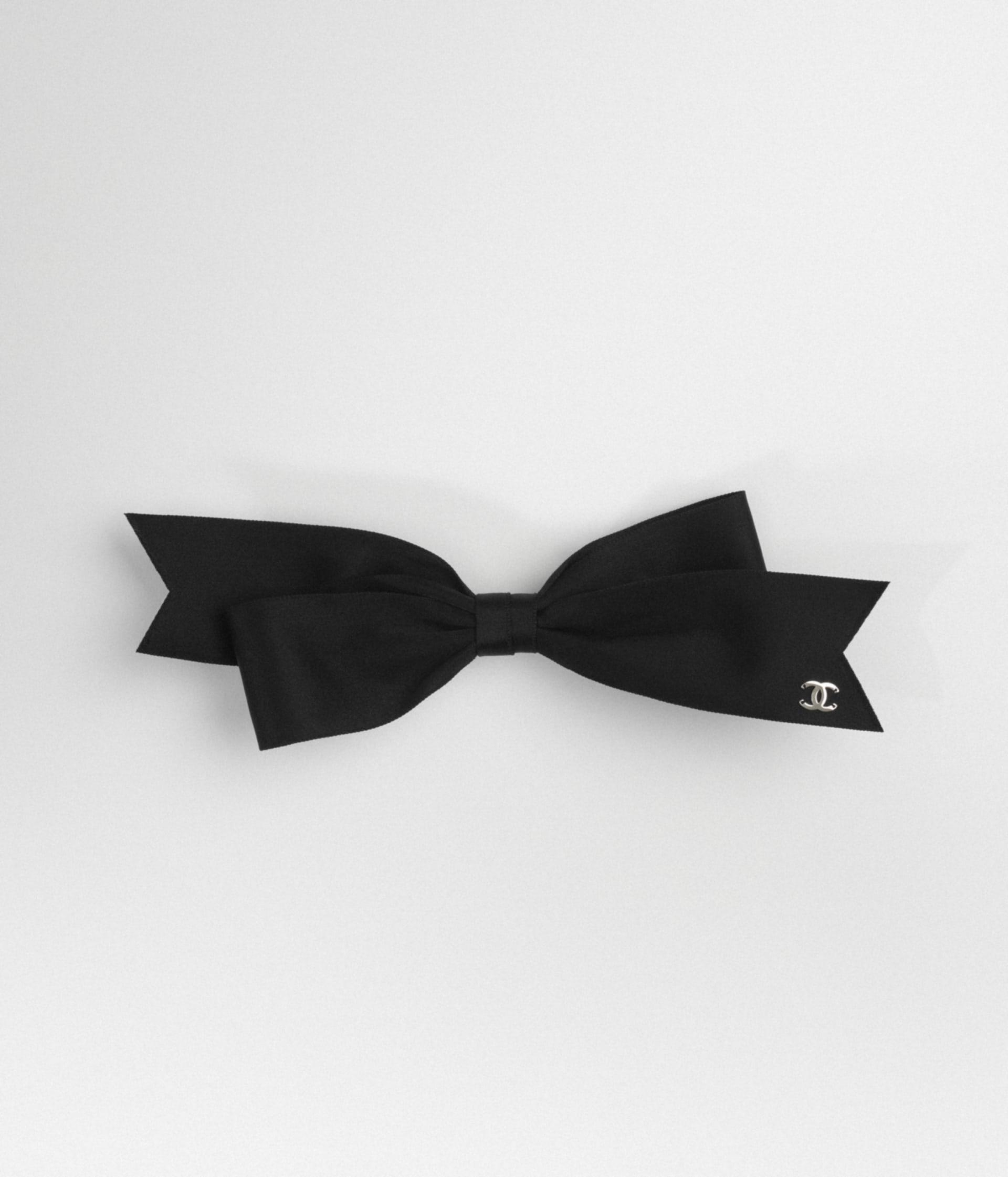 image 1 - Bow Barrette - Satin Ribbon - Black