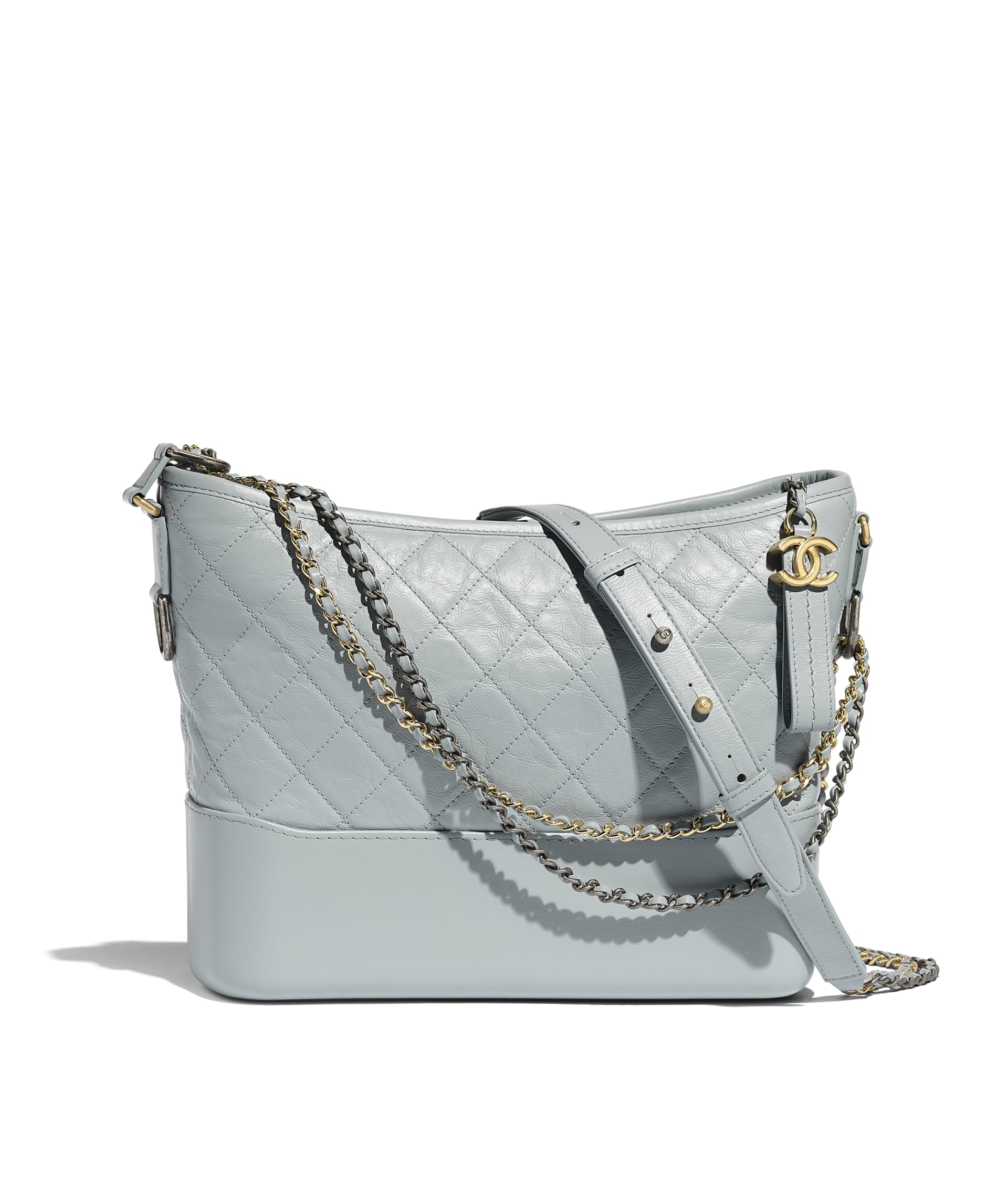 image 1 - CHANEL'S GABRIELLE  Large Hobo Bag - Aged Calfskin, Smooth Calfskin, Gold-Tone, Silver-Tone & Ruthenium-Finish Metal - Light Blue & Turquoise