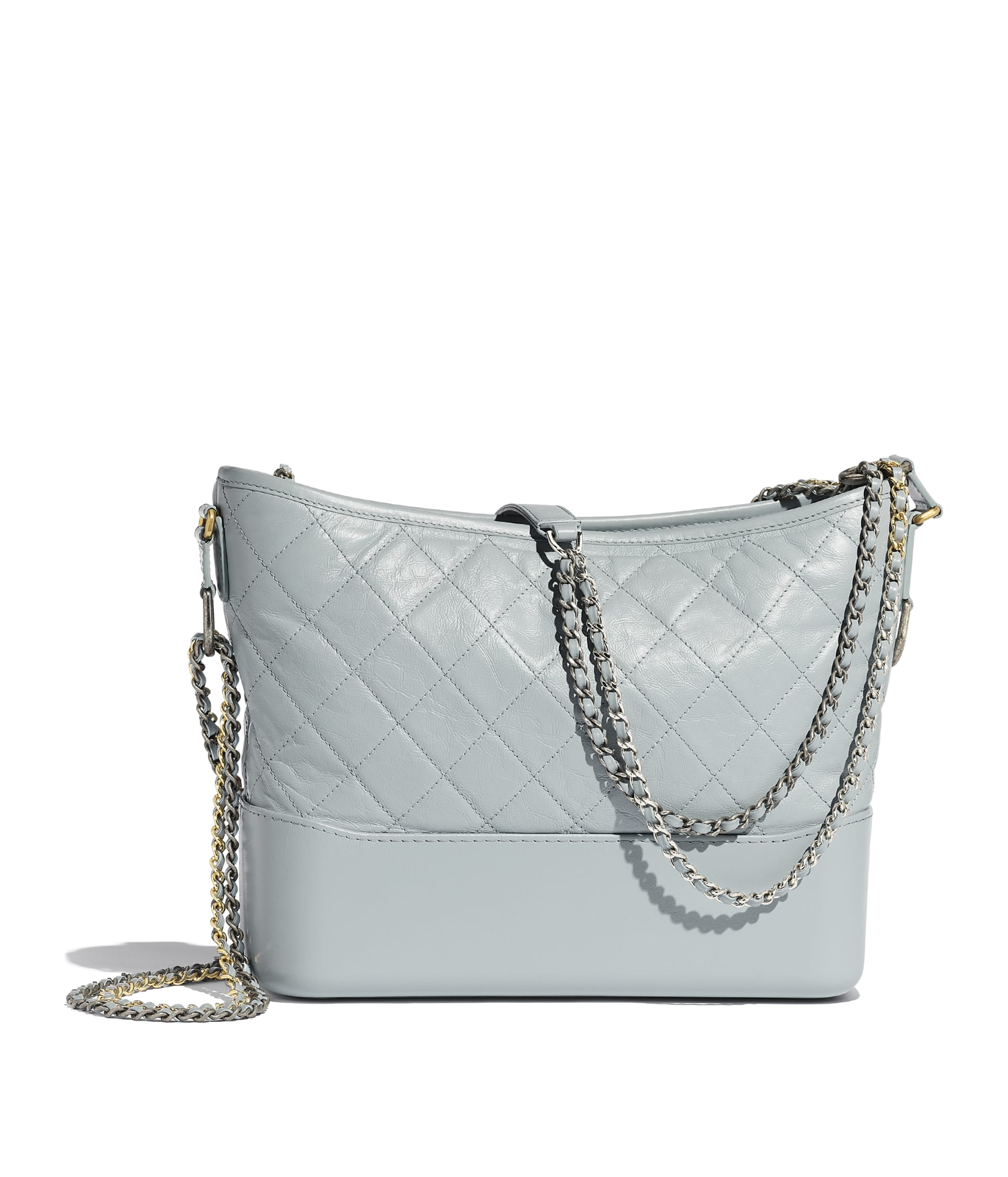 image 2 - CHANEL'S GABRIELLE  Large Hobo Bag - Aged Calfskin, Smooth Calfskin, Gold-Tone, Silver-Tone & Ruthenium-Finish Metal - Light Blue & Turquoise