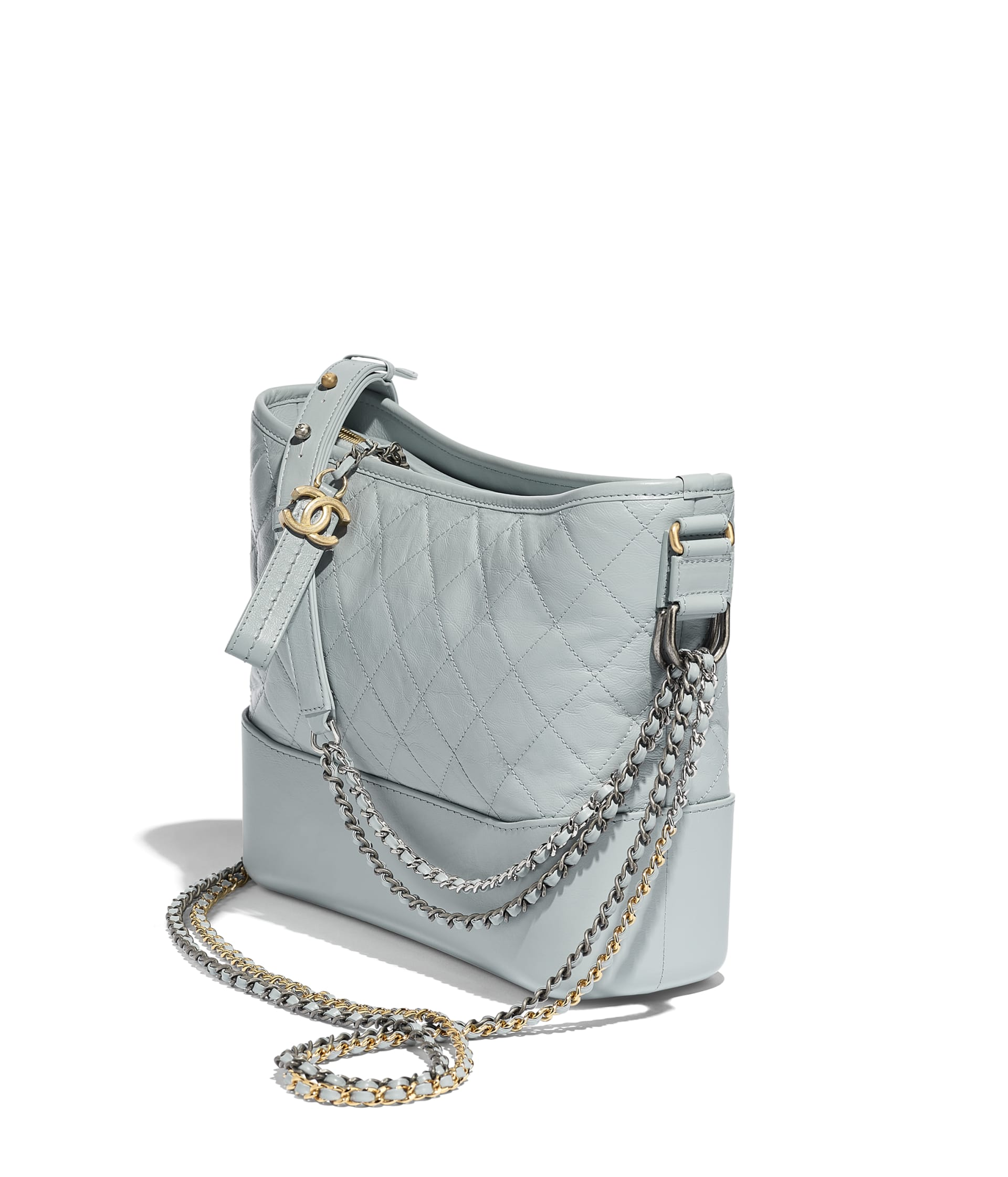 image 3 - CHANEL'S GABRIELLE  Large Hobo Bag - Aged Calfskin, Smooth Calfskin, Gold-Tone, Silver-Tone & Ruthenium-Finish Metal - Light Blue & Turquoise
